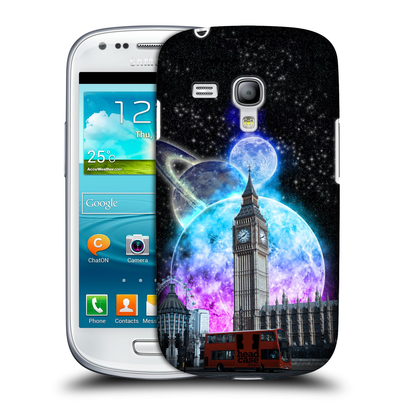 Silikonové pouzdro na mobil Samsung Galaxy S III Mini VE Head Case - Měsíční Londýn (Plastový kryt či obal na mobilní telefon s motivem Londýna pro Samsung Galaxy S3 Mini VE GT-i8200)