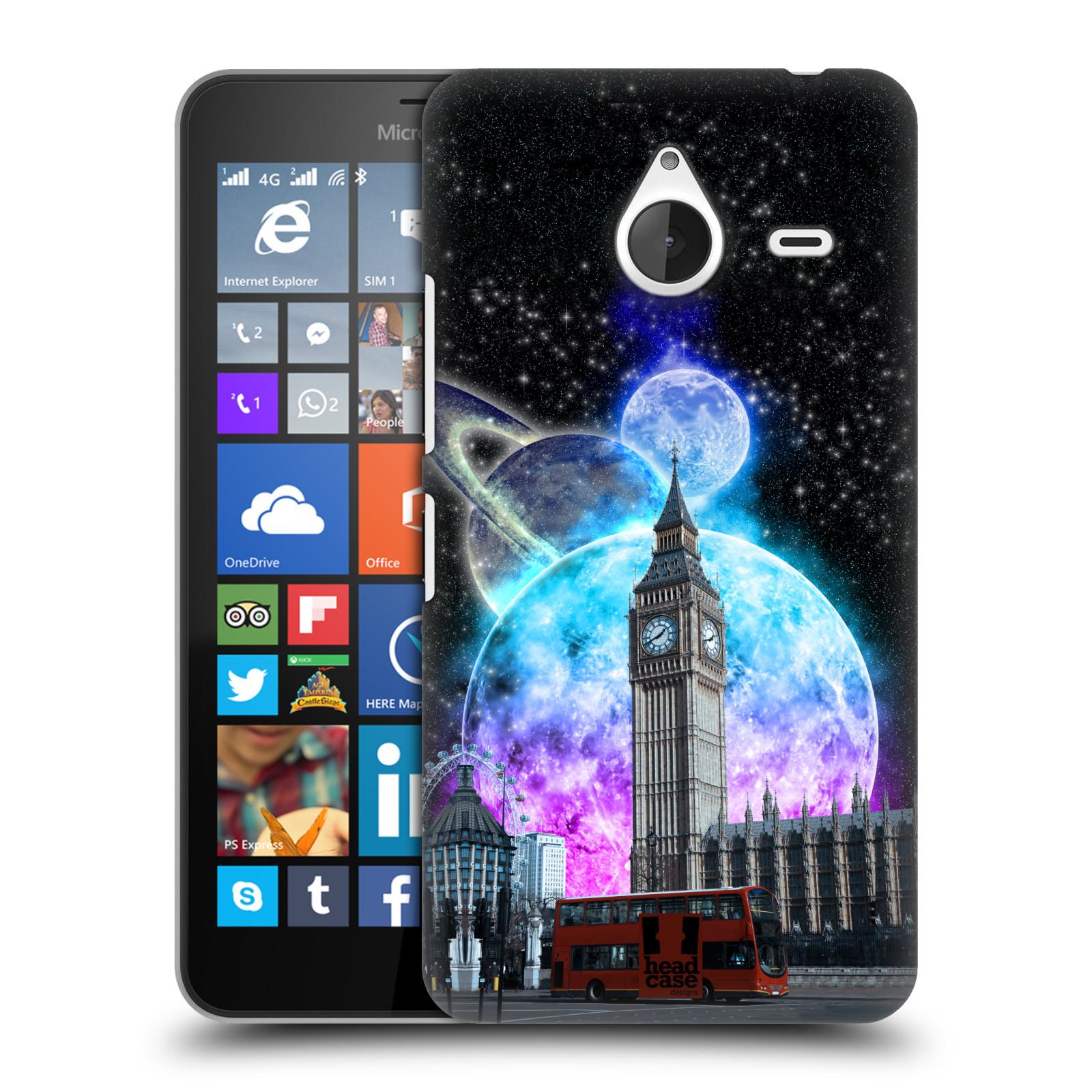 Plastové pouzdro na mobil Microsoft Lumia 640 XL Head Case - Měsíční Londýn (Plastový kryt či obal na mobilní telefon s motivem Londýna pro Microsoft Lumia 640 XL)