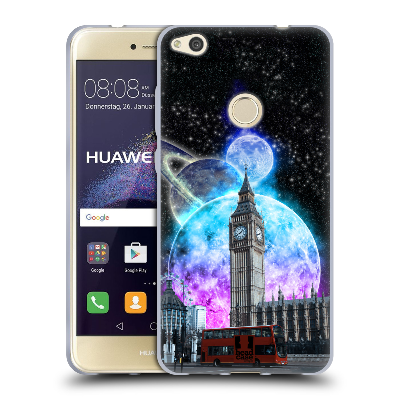 Silikonové pouzdro na mobil Huawei P9 Lite (2017) Head Case - Měsíční Londýn 017072f22c3