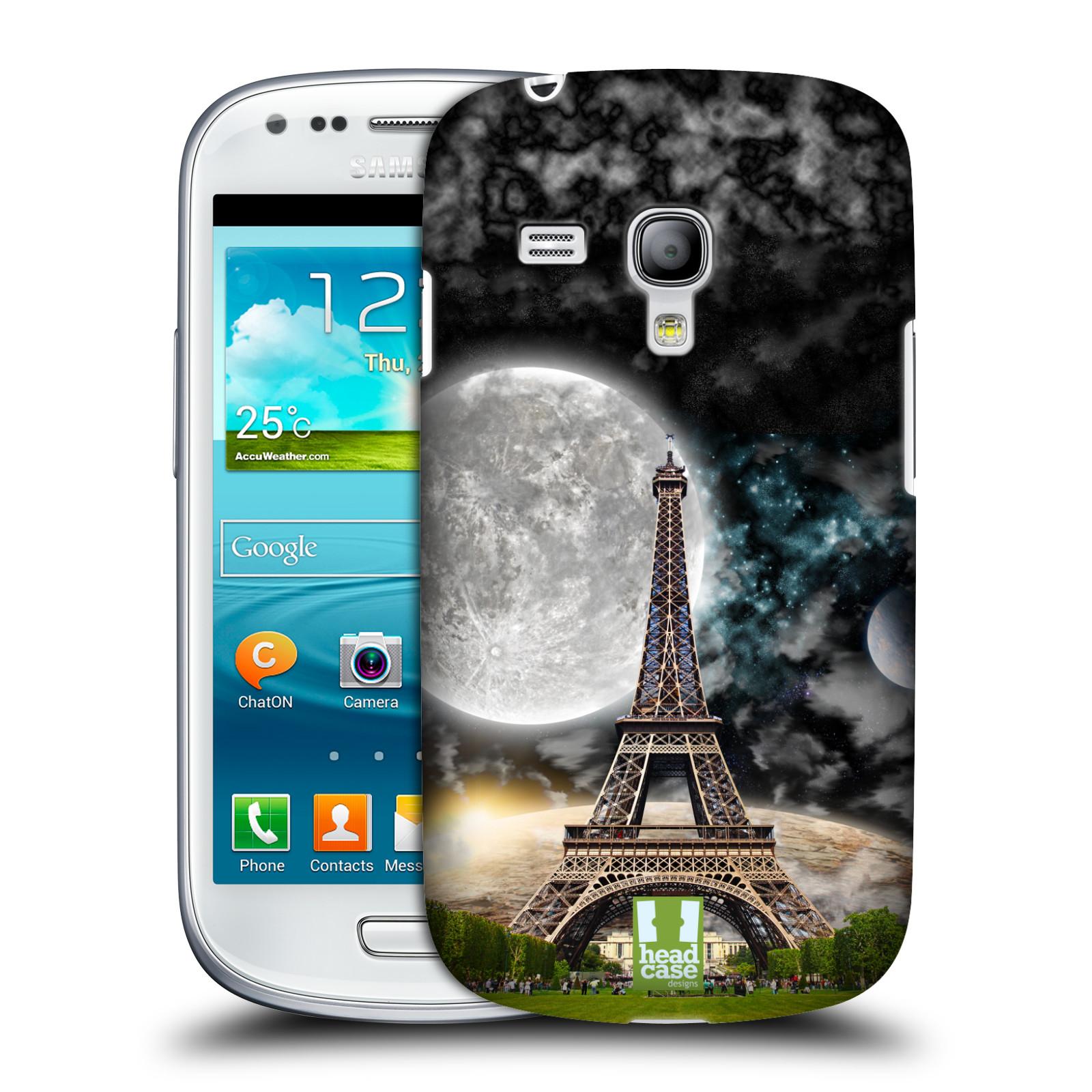 Silikonové pouzdro na mobil Samsung Galaxy S III Mini VE Head Case - Měsíční aifelovka (Plastový kryt či obal na mobilní telefon s motivem aifelovky pro Samsung Galaxy S3 Mini VE GT-i8200)