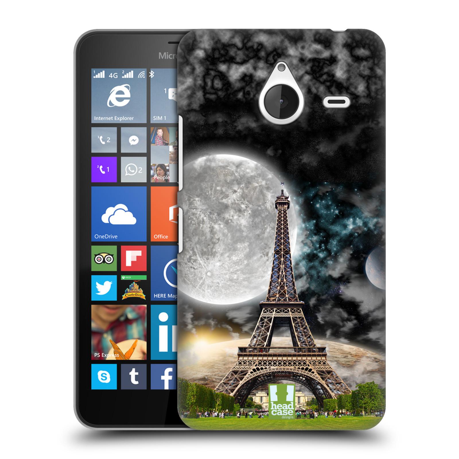 Plastové pouzdro na mobil Microsoft Lumia 640 XL Head Case - Měsíční aifelovka (Plastový kryt či obal na mobilní telefon s motivem aifelovky pro Microsoft Lumia 640 XL)