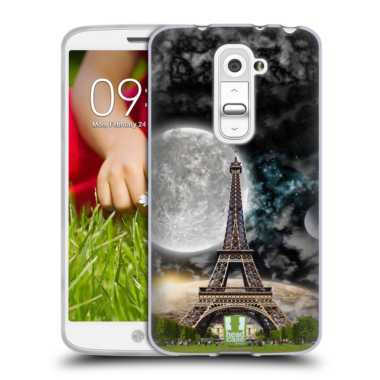 Silikonové pouzdro na mobil LG G2 Mini Head Case - Měsíční aifelovka (Silikonový kryt či obal na mobilní telefon s motivem aifelovky pro LG G2 Mini D620)