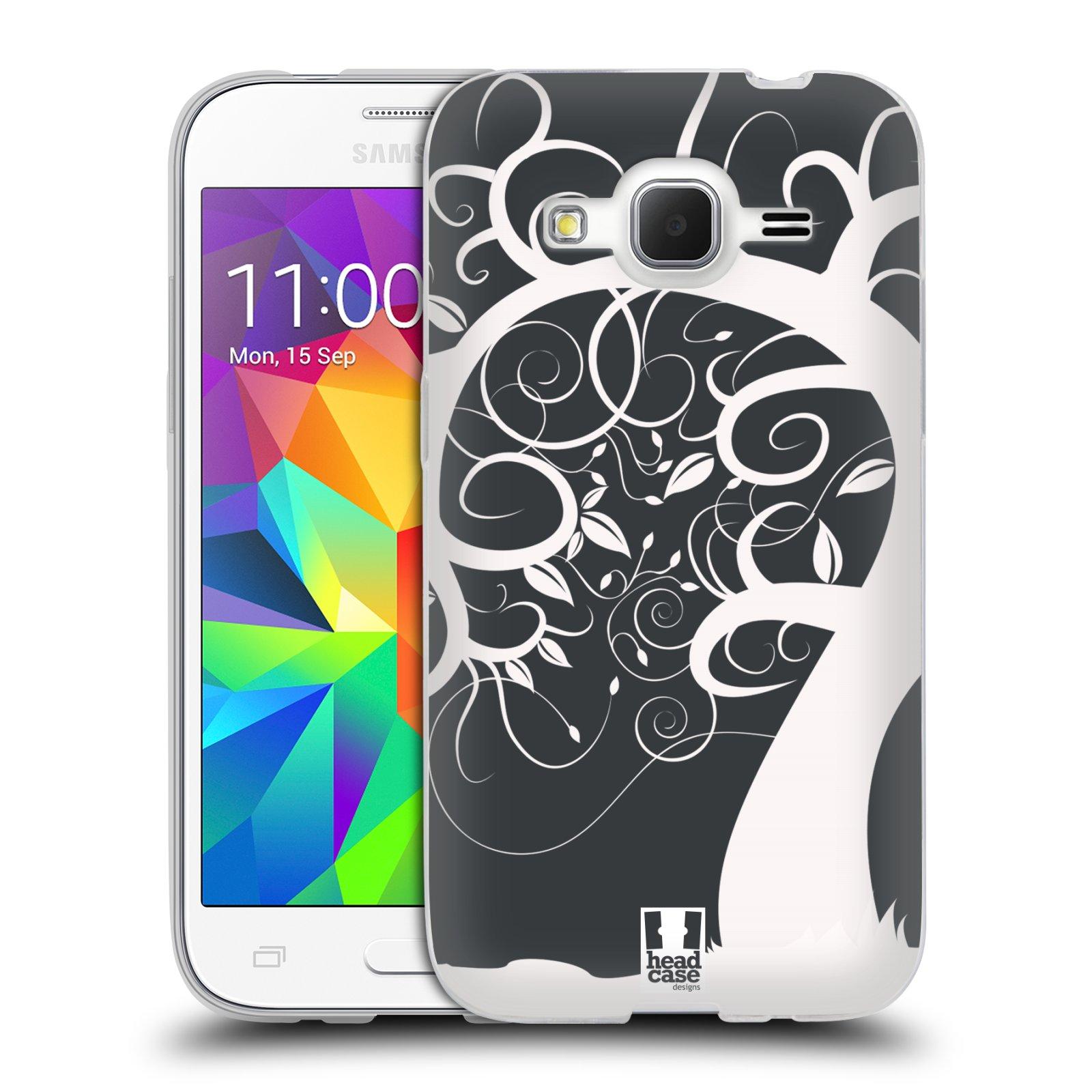 Silikonové pouzdro na mobil Samsung Galaxy Core Prime VE HEAD CASE SPLETITÝ STROM ŠEDÝ (Silikonový kryt či obal na mobilní telefon Samsung Galaxy Core Prime LTE VE SM-G361F)