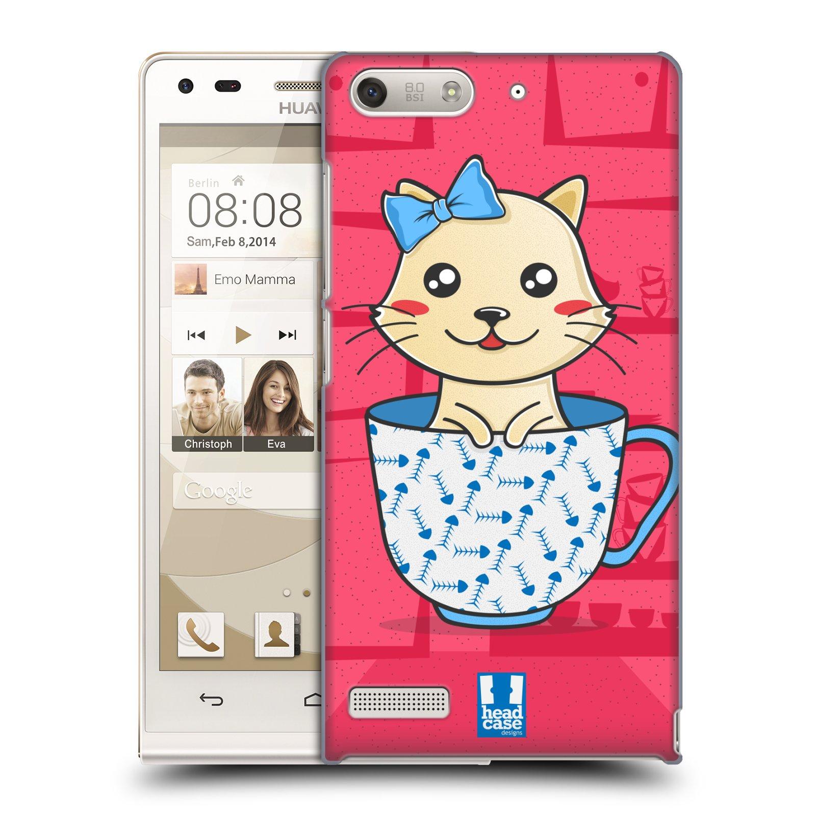 Plastové pouzdro na mobil Huawei Ascend G6 HEAD CASE KOČKA V ŠÁLKU (Kryt či obal na mobilní telefon Huawei Ascend G6 bez LTE)