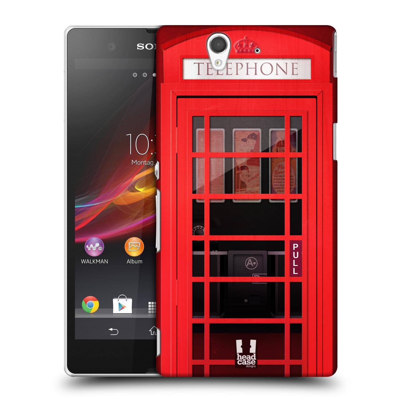 Plastové pouzdro na mobil Sony Xperia Z C6603 HEAD CASE TELEFONNÍ BUDKA