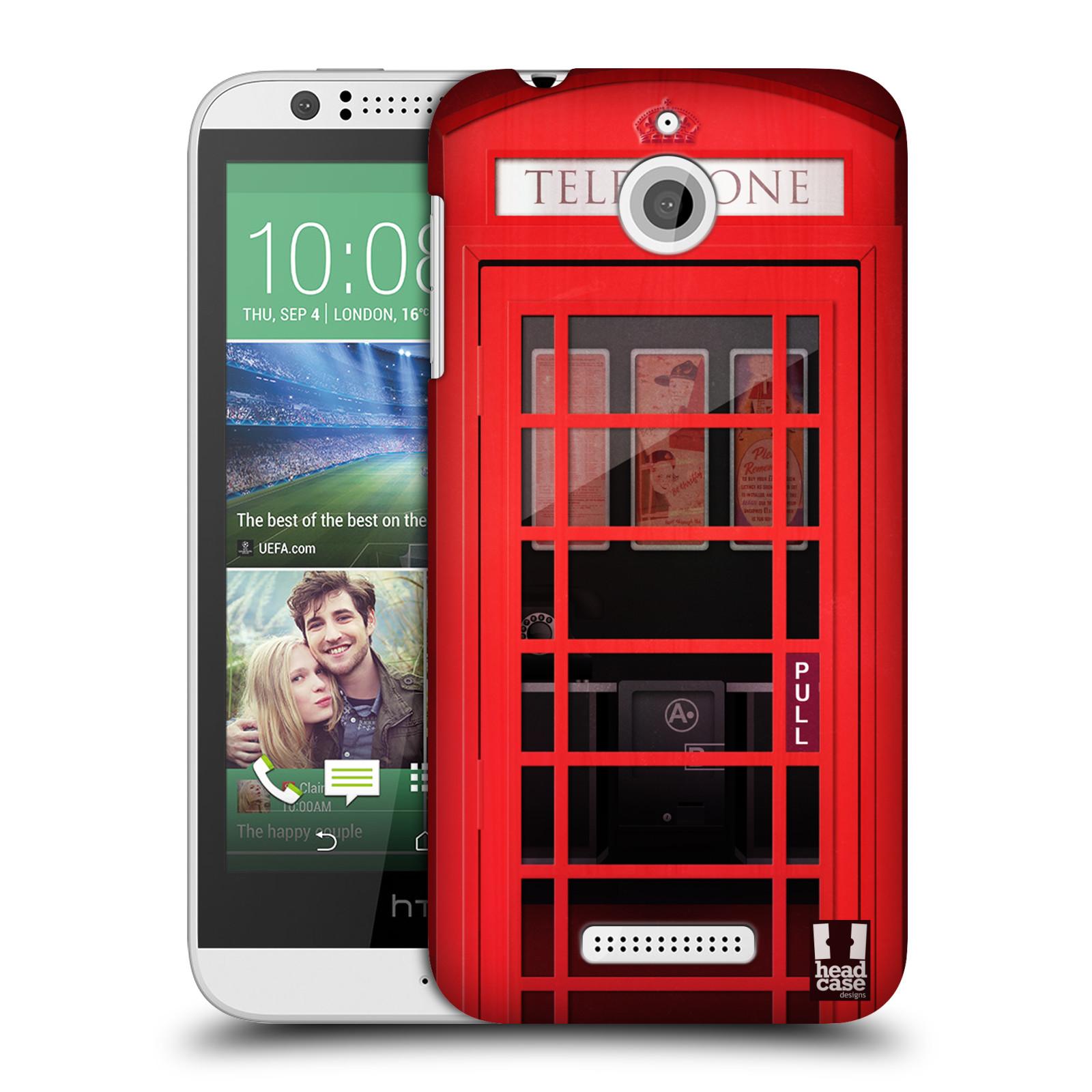 Plastové pouzdro na mobil HTC Desire 510 HEAD CASE TELEFONNÍ BUDKA