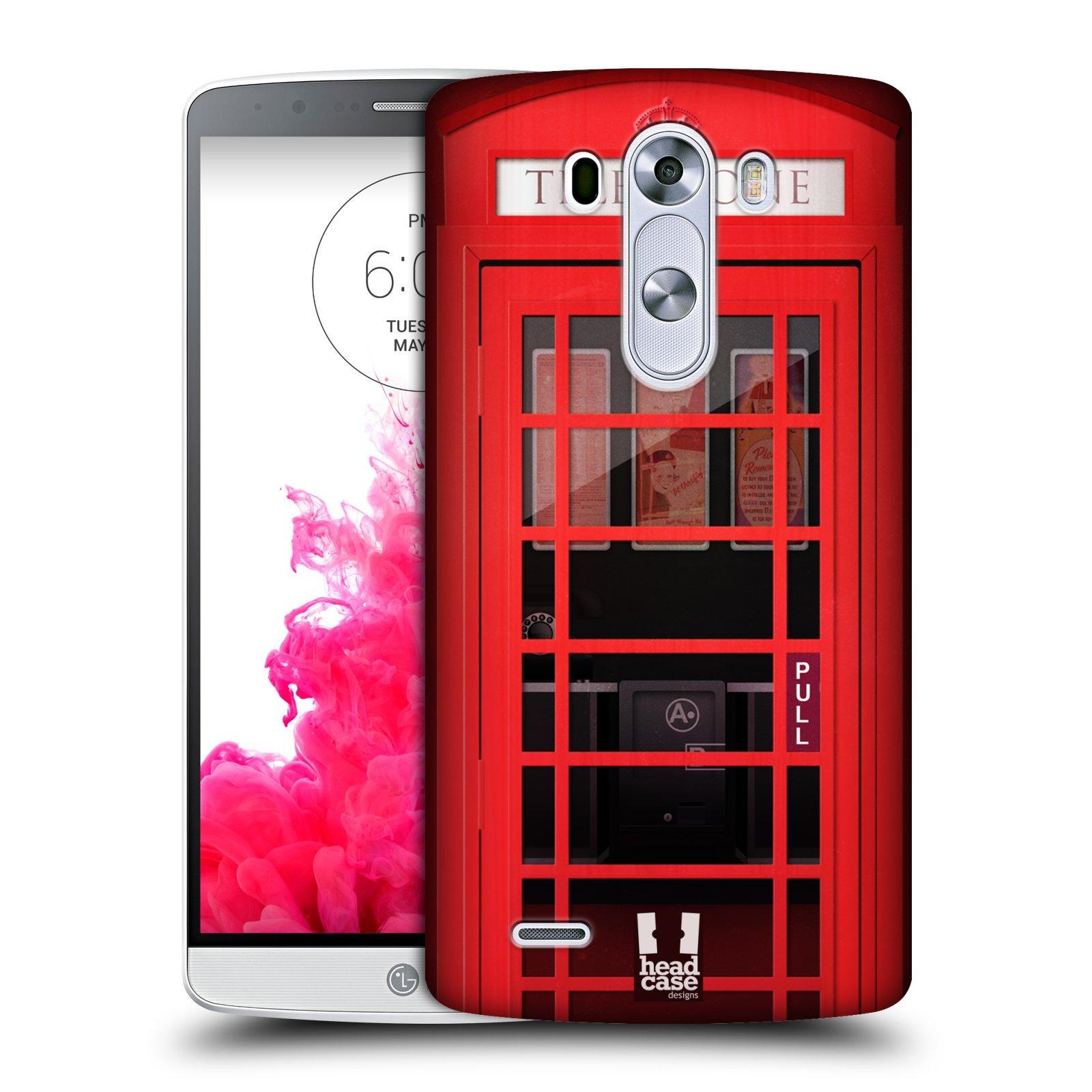 Plastové pouzdro na mobil LG G3 HEAD CASE TELEFONNÍ BUDKA