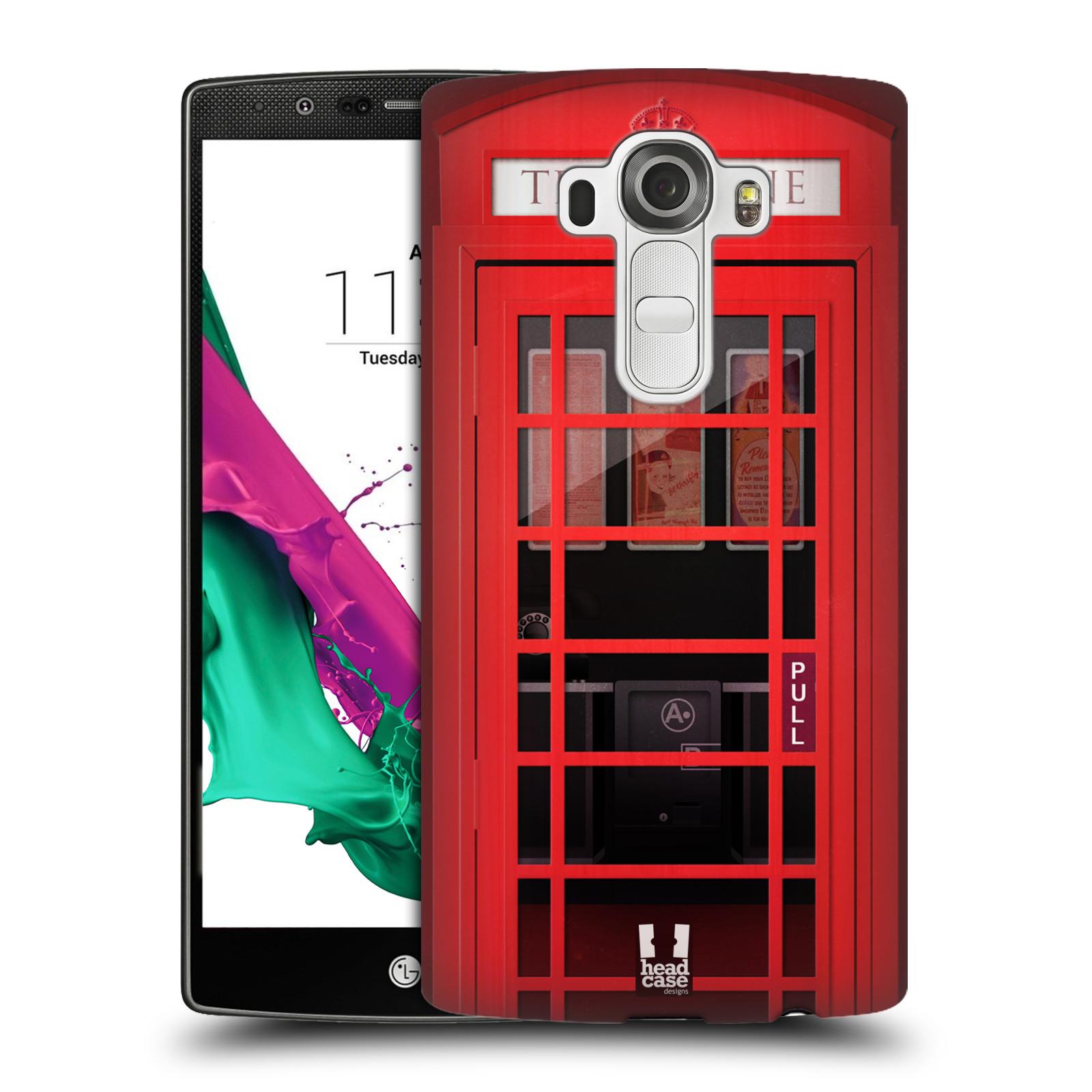 Plastové pouzdro na mobil LG G4 HEAD CASE TELEFONNÍ BUDKA