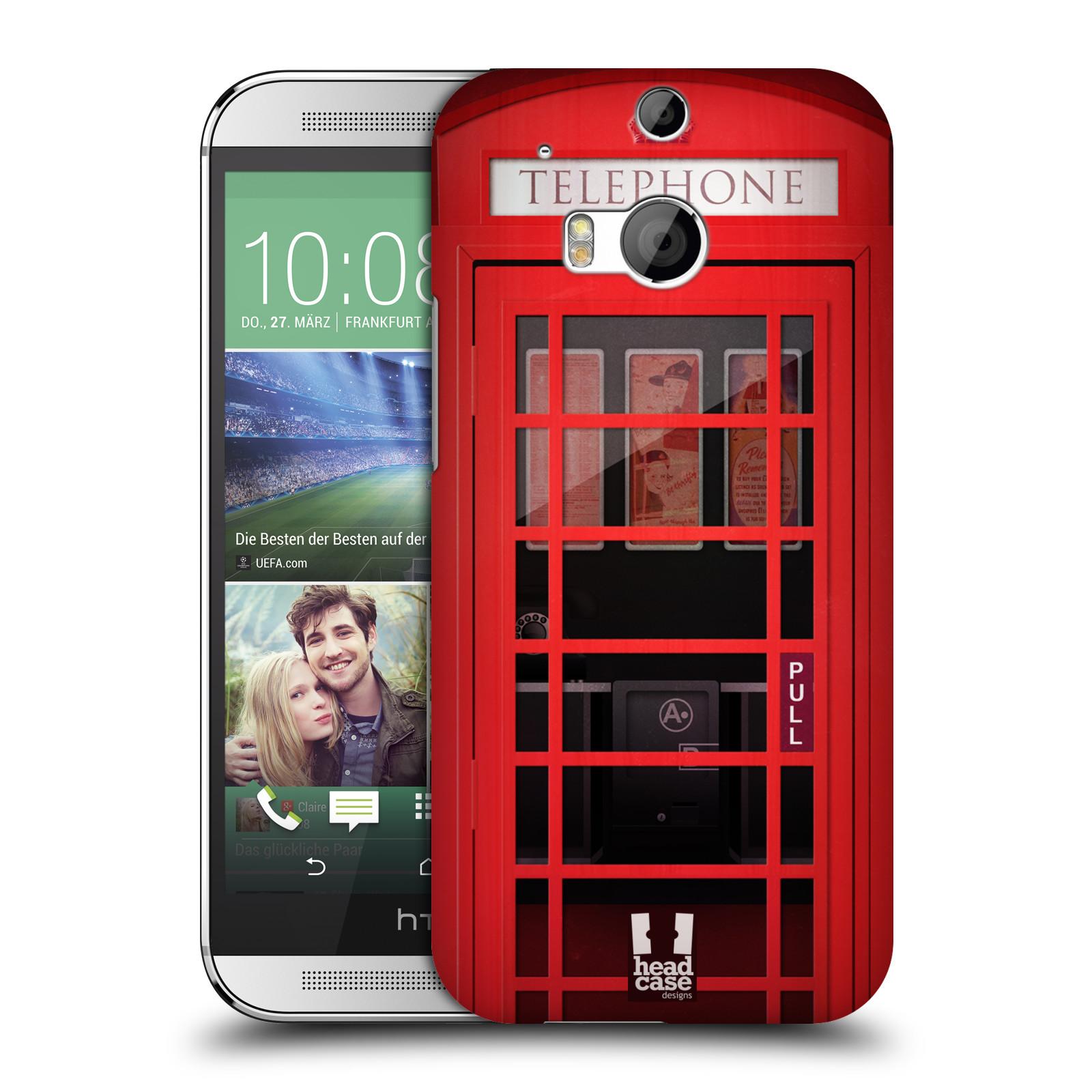 Plastové pouzdro na mobil HTC ONE M8 HEAD CASE TELEFONNÍ BUDKA