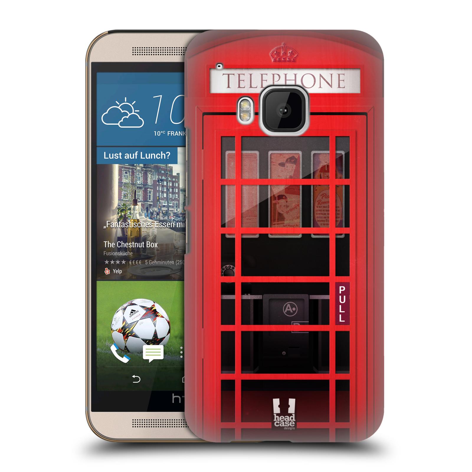 Plastové pouzdro na mobil HTC ONE M9 HEAD CASE TELEFONNÍ BUDKA