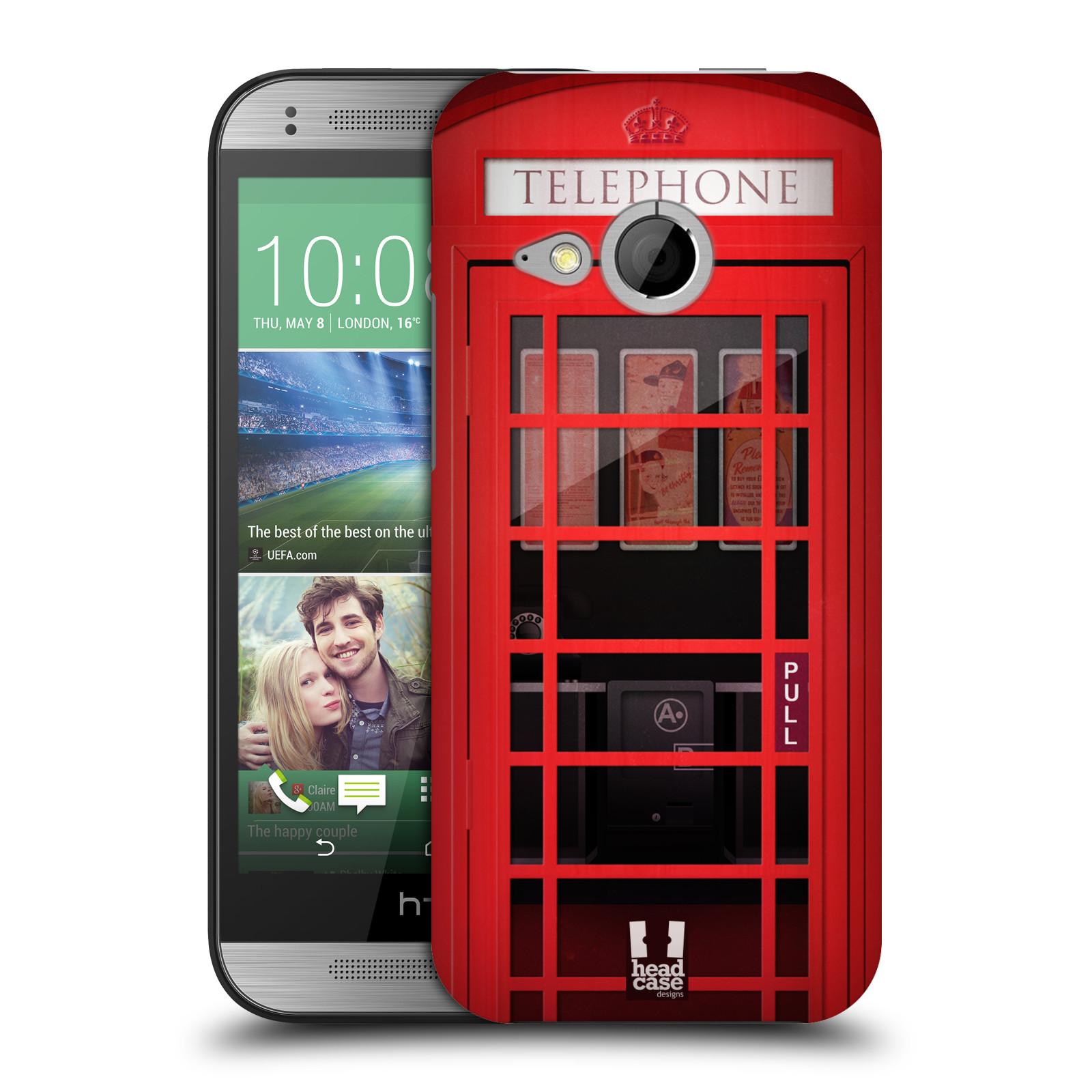 Plastové pouzdro na mobil HTC ONE Mini 2 HEAD CASE TELEFONNÍ BUDKA