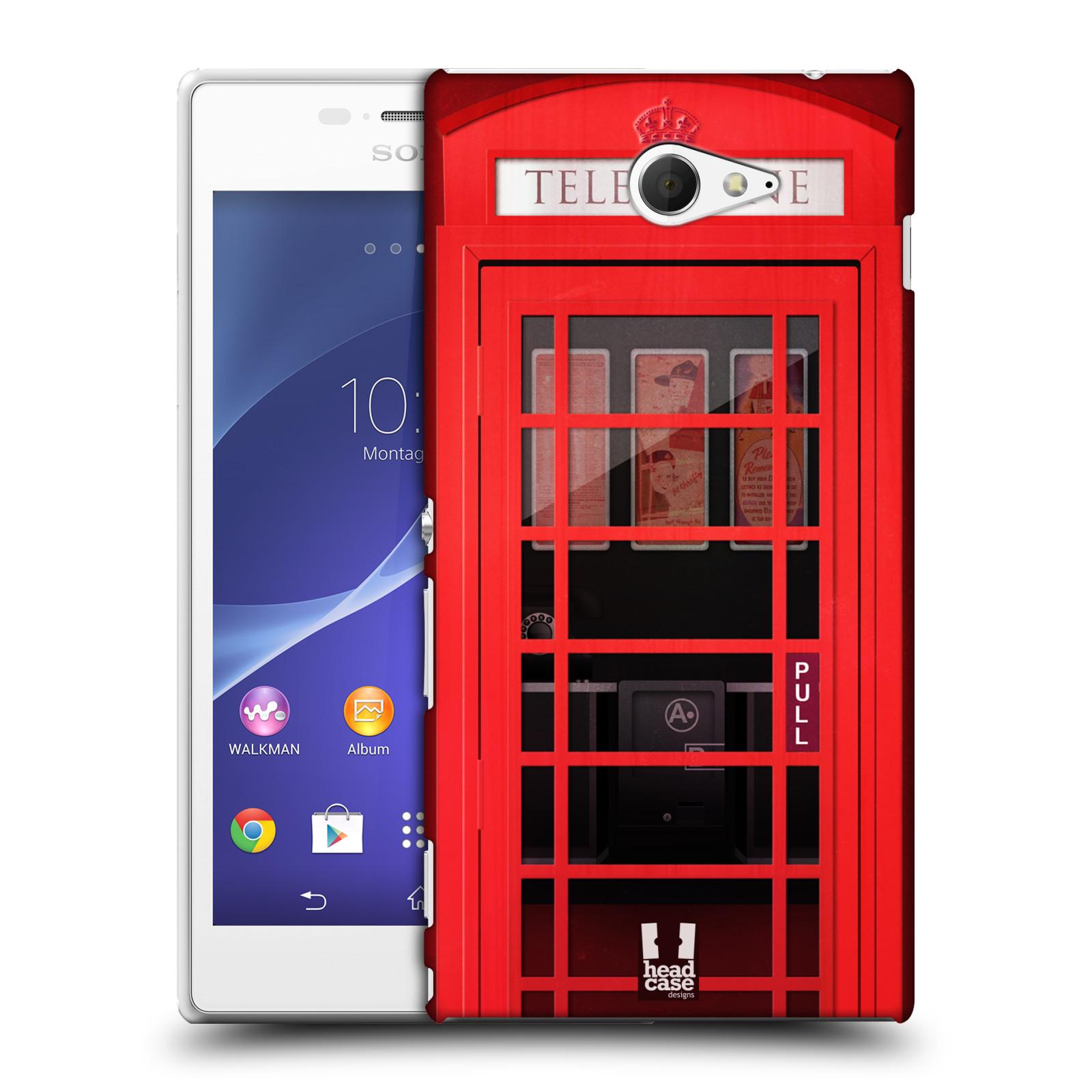Plastové pouzdro na mobil Sony Xperia M2 D2303 HEAD CASE TELEFONNÍ BUDKA