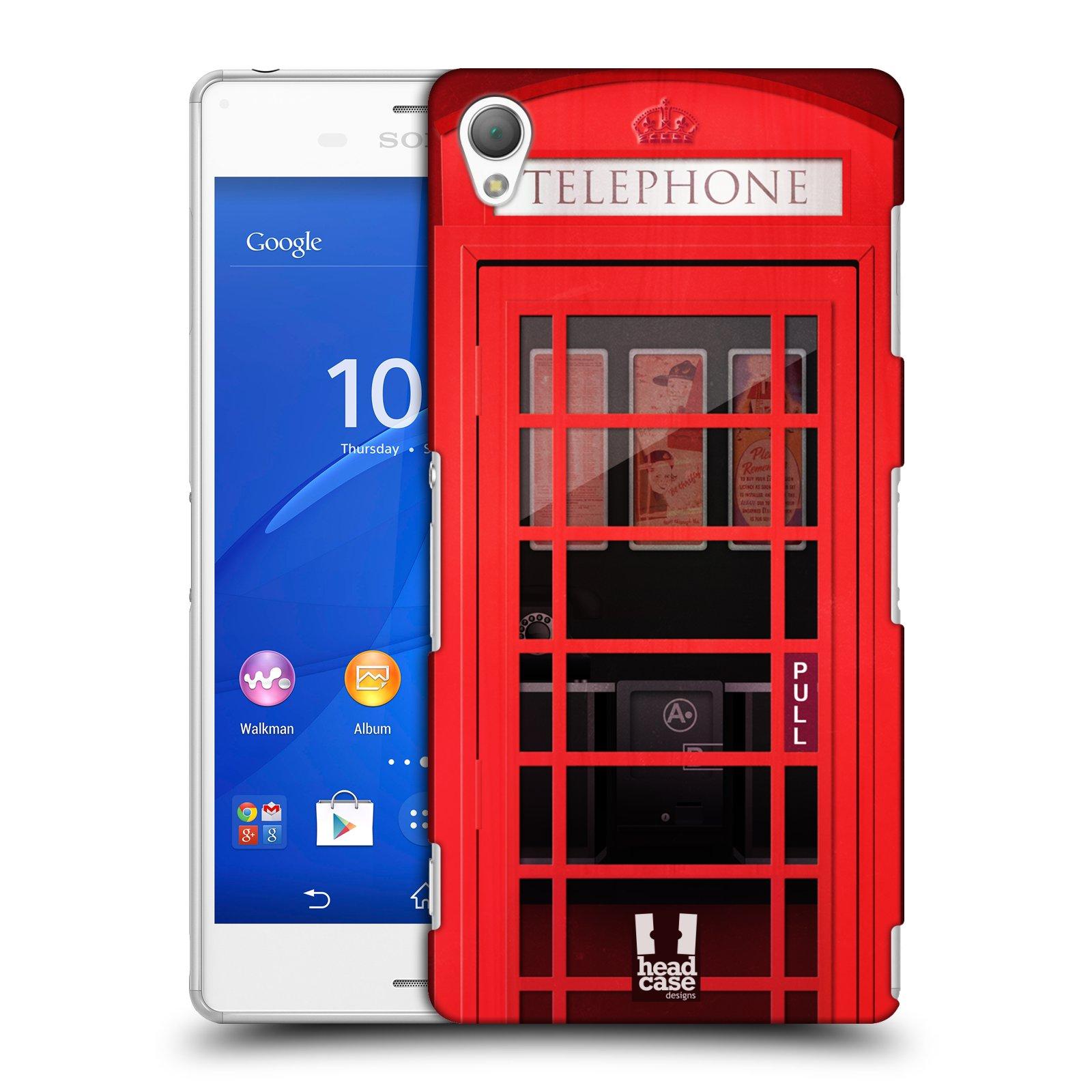Plastové pouzdro na mobil Sony Xperia Z3 D6603 HEAD CASE TELEFONNÍ BUDKA