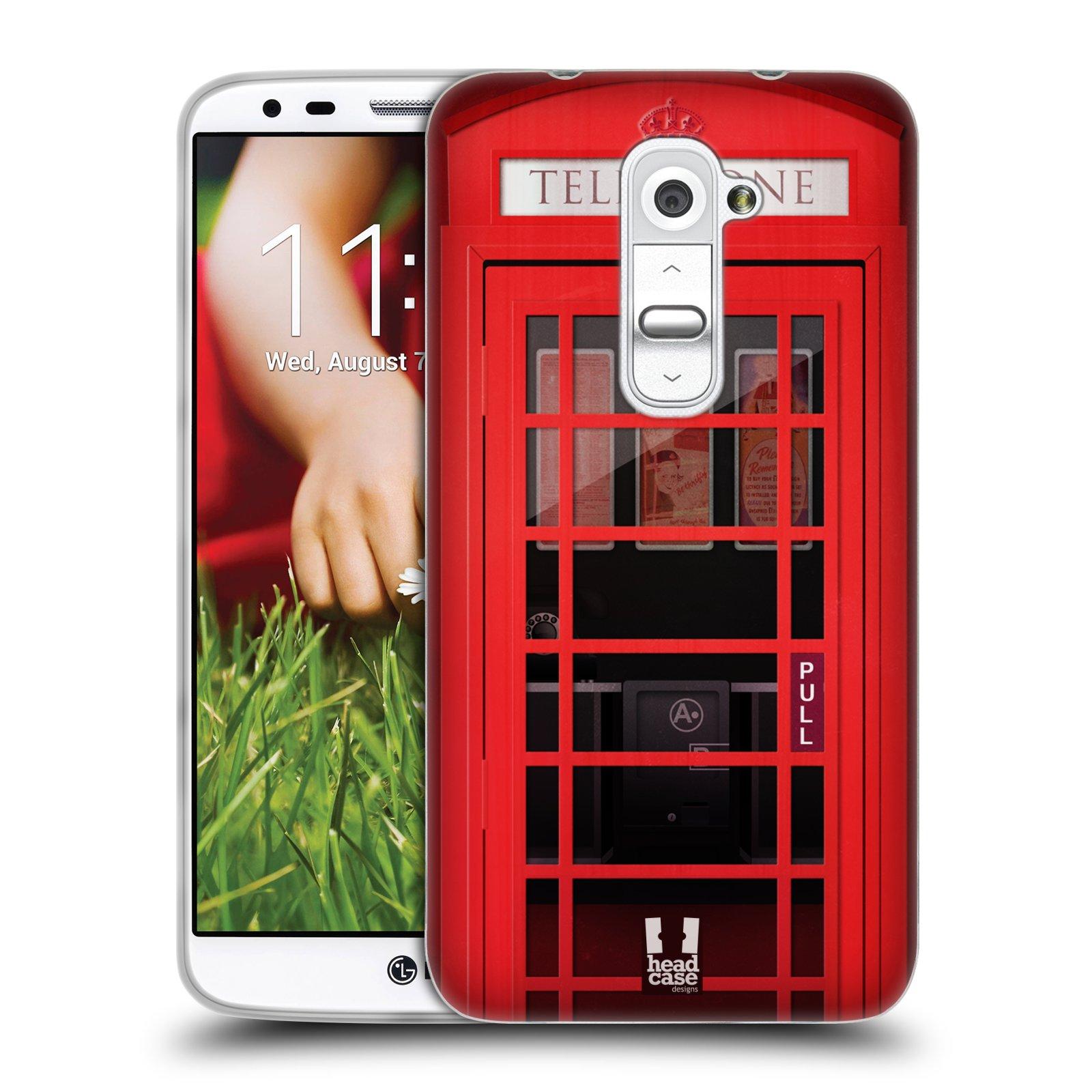 Silikonové pouzdro na mobil LG G2 HEAD CASE TELEFONNÍ BUDKA