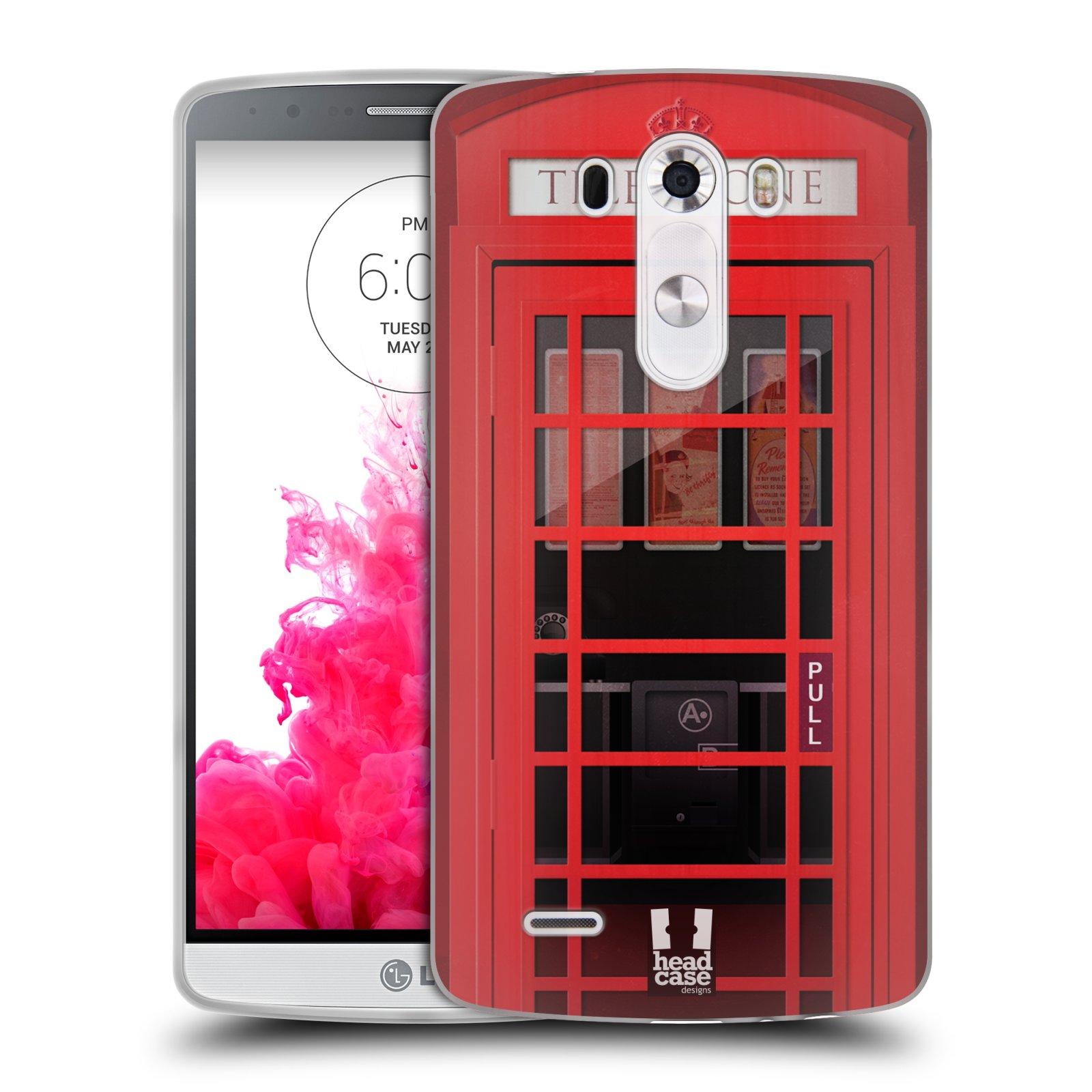 Silikonové pouzdro na mobil LG G3 HEAD CASE TELEFONNÍ BUDKA