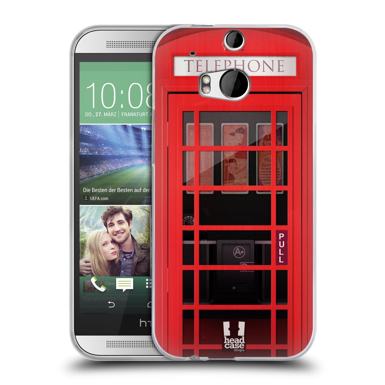 Silikonové pouzdro na mobil HTC ONE M8 HEAD CASE TELEFONNÍ BUDKA