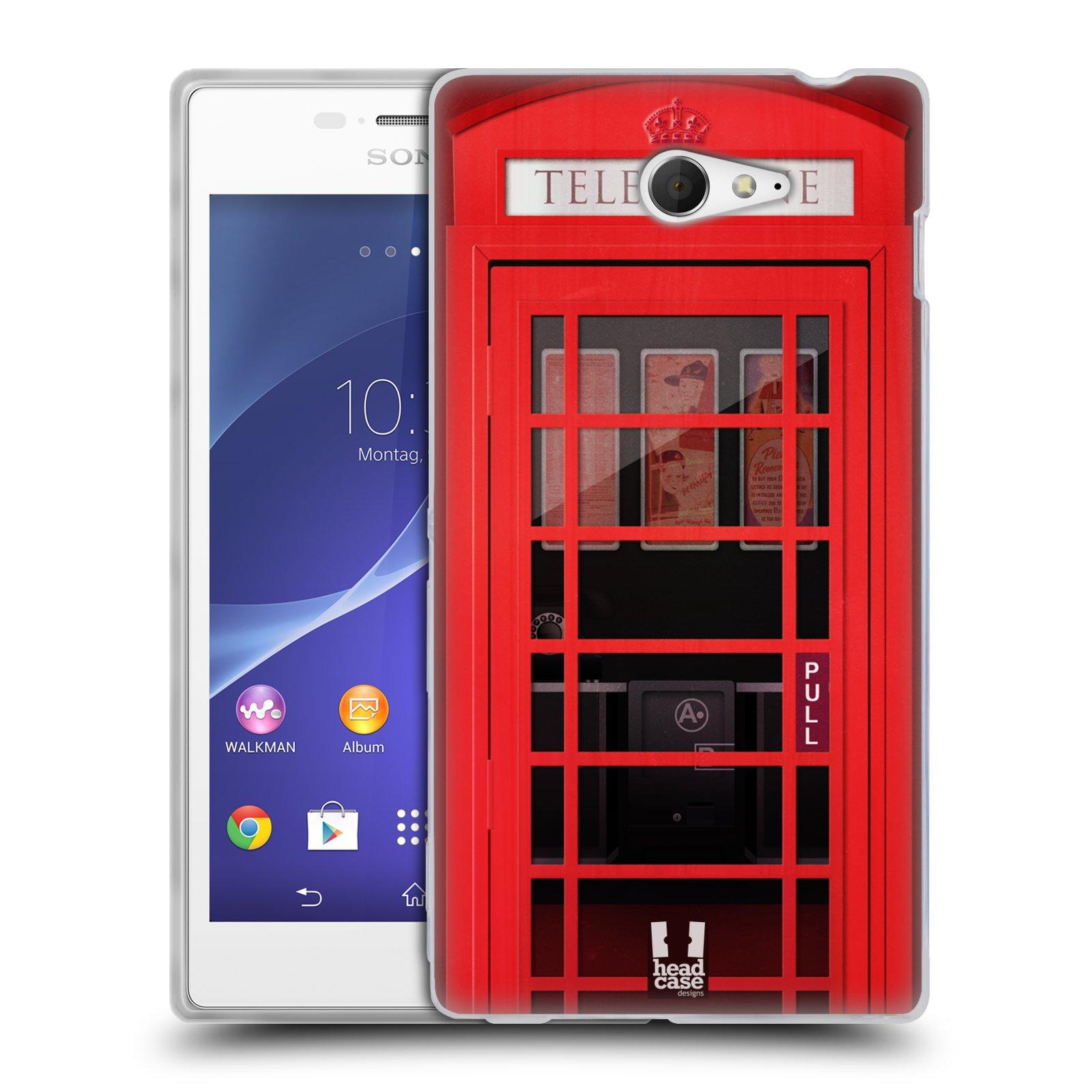 Silikonové pouzdro na mobil Sony Xperia M2 D2303 HEAD CASE TELEFONNÍ BUDKA