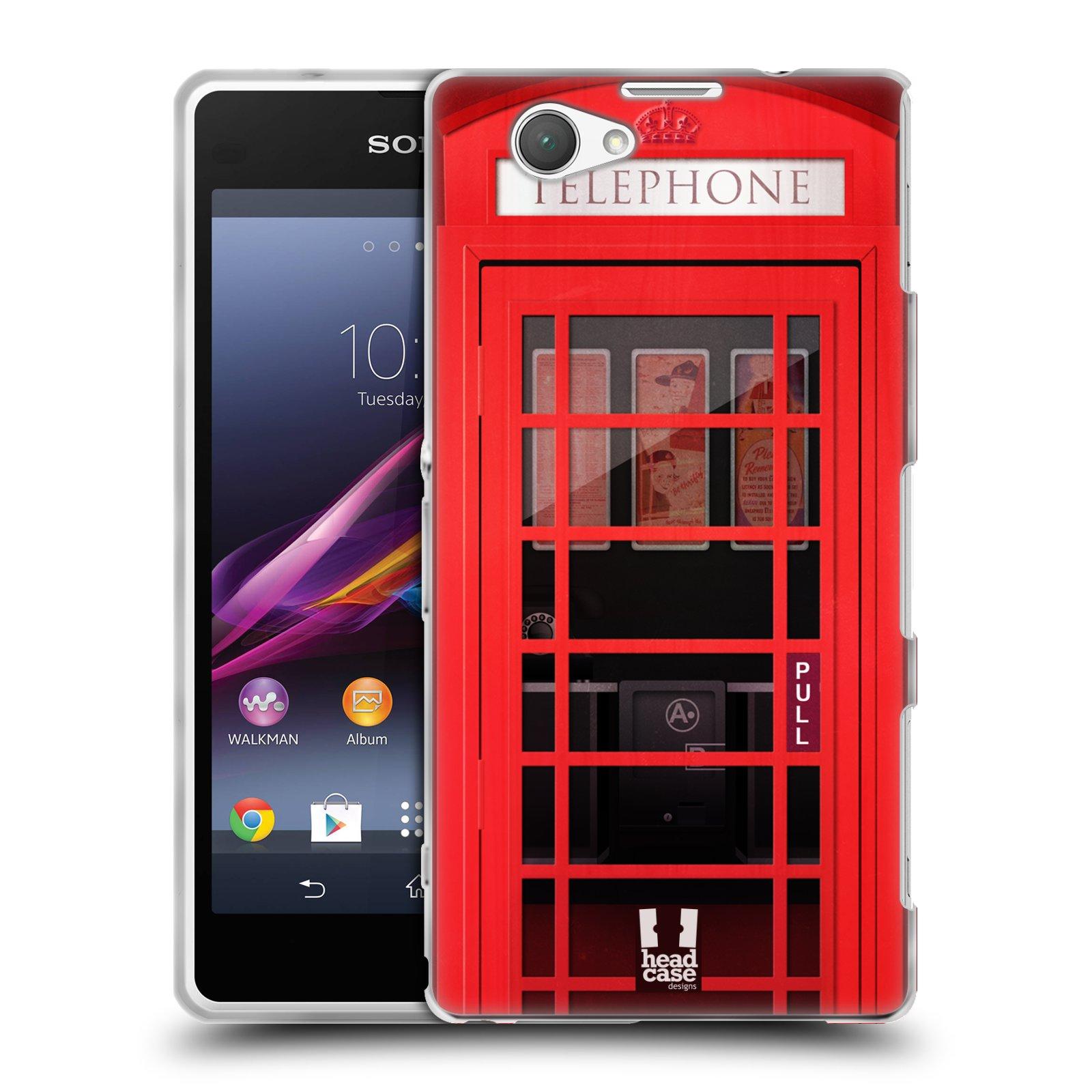 Silikonové pouzdro na mobil Sony Xperia Z1 Compact D5503 HEAD CASE TELEFONNÍ BUDKA
