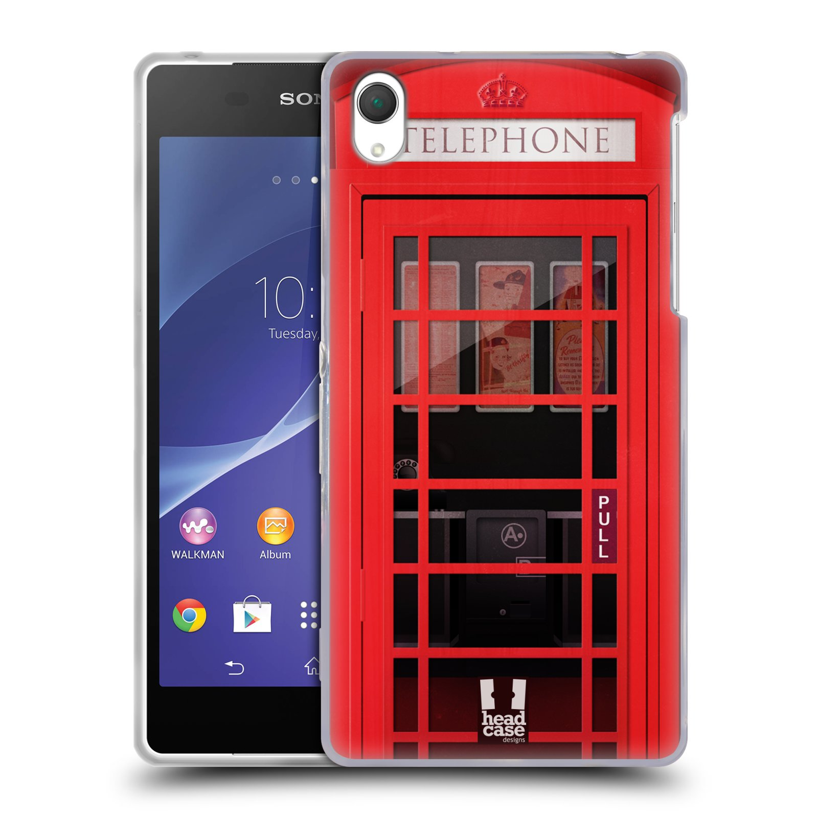 Silikonové pouzdro na mobil Sony Xperia Z2 D6503 HEAD CASE TELEFONNÍ BUDKA