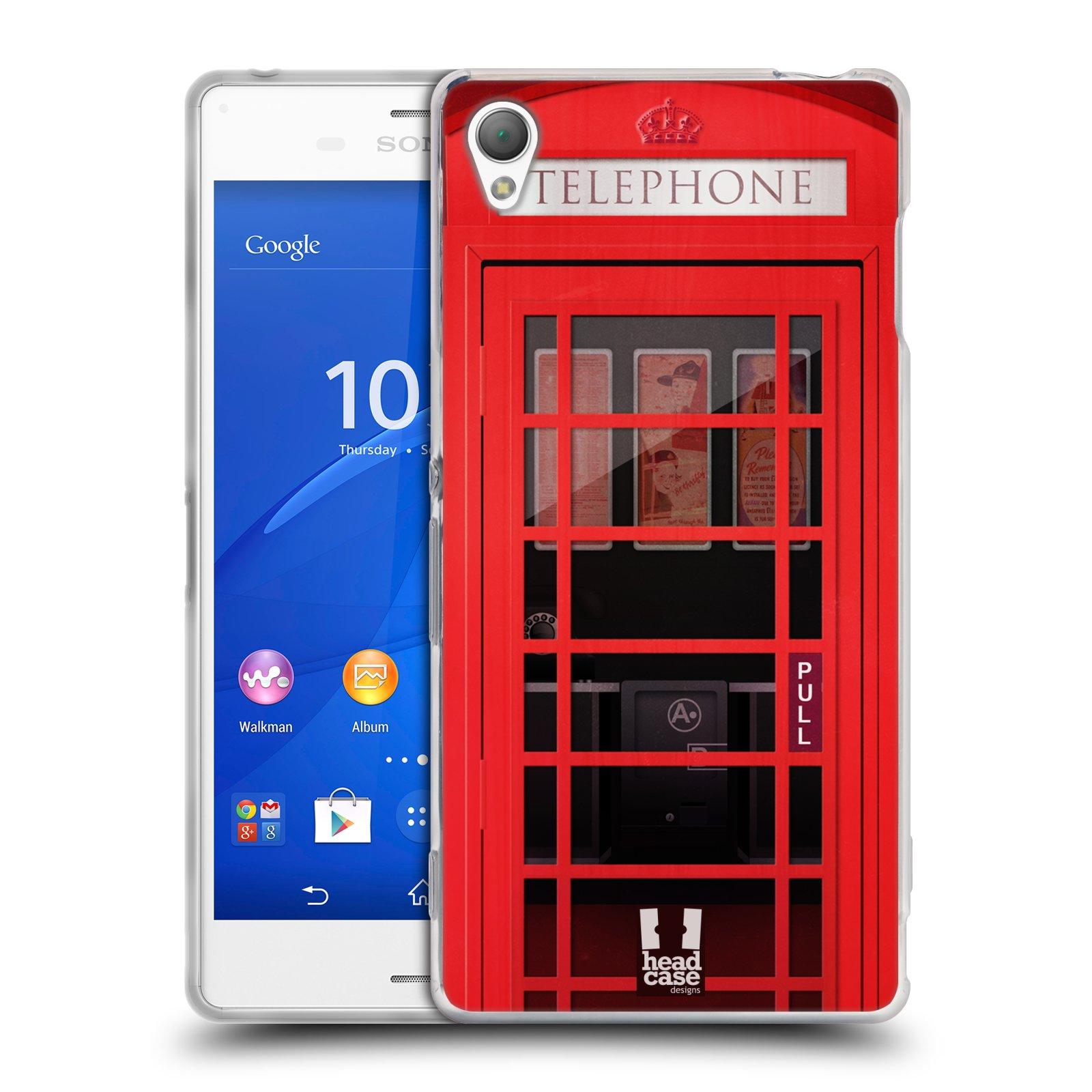 Silikonové pouzdro na mobil Sony Xperia Z3 D6603 HEAD CASE TELEFONNÍ BUDKA