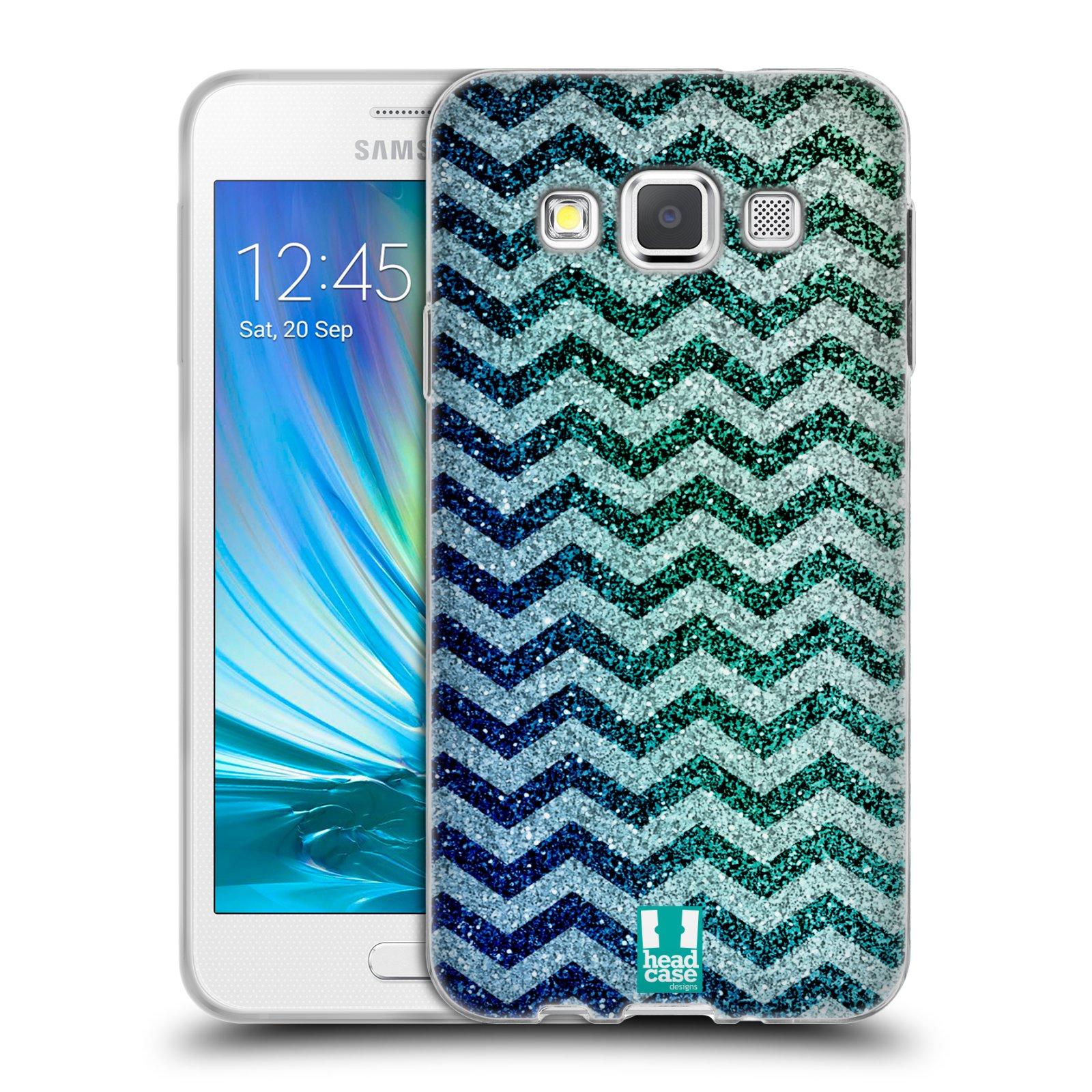 Silikonové pouzdro na mobil Samsung Galaxy A3 HEAD CASE MIX CHEVRON