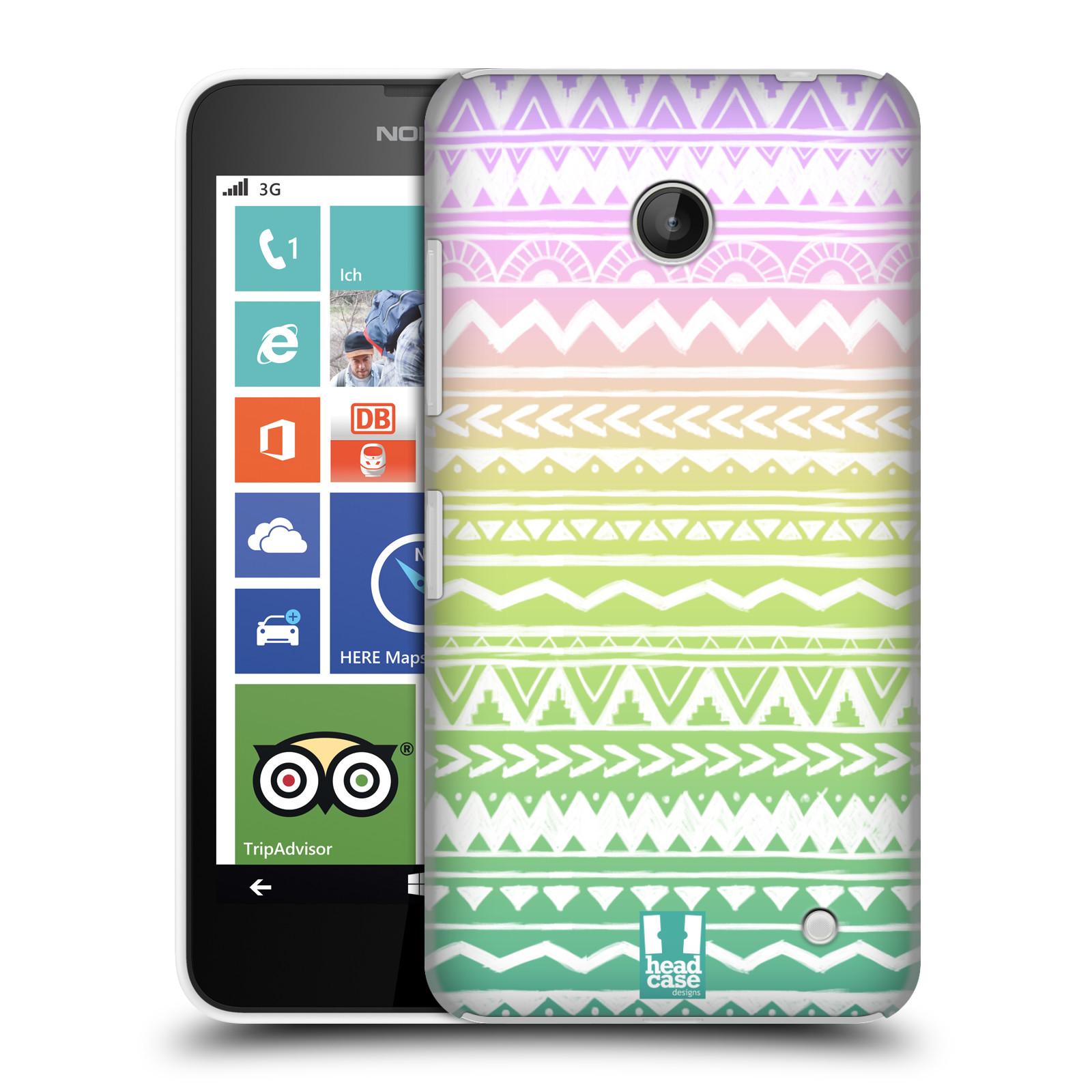 Plastové pouzdro na mobil Nokia Lumia 630 HEAD CASE MIX AZTEC DRAWN