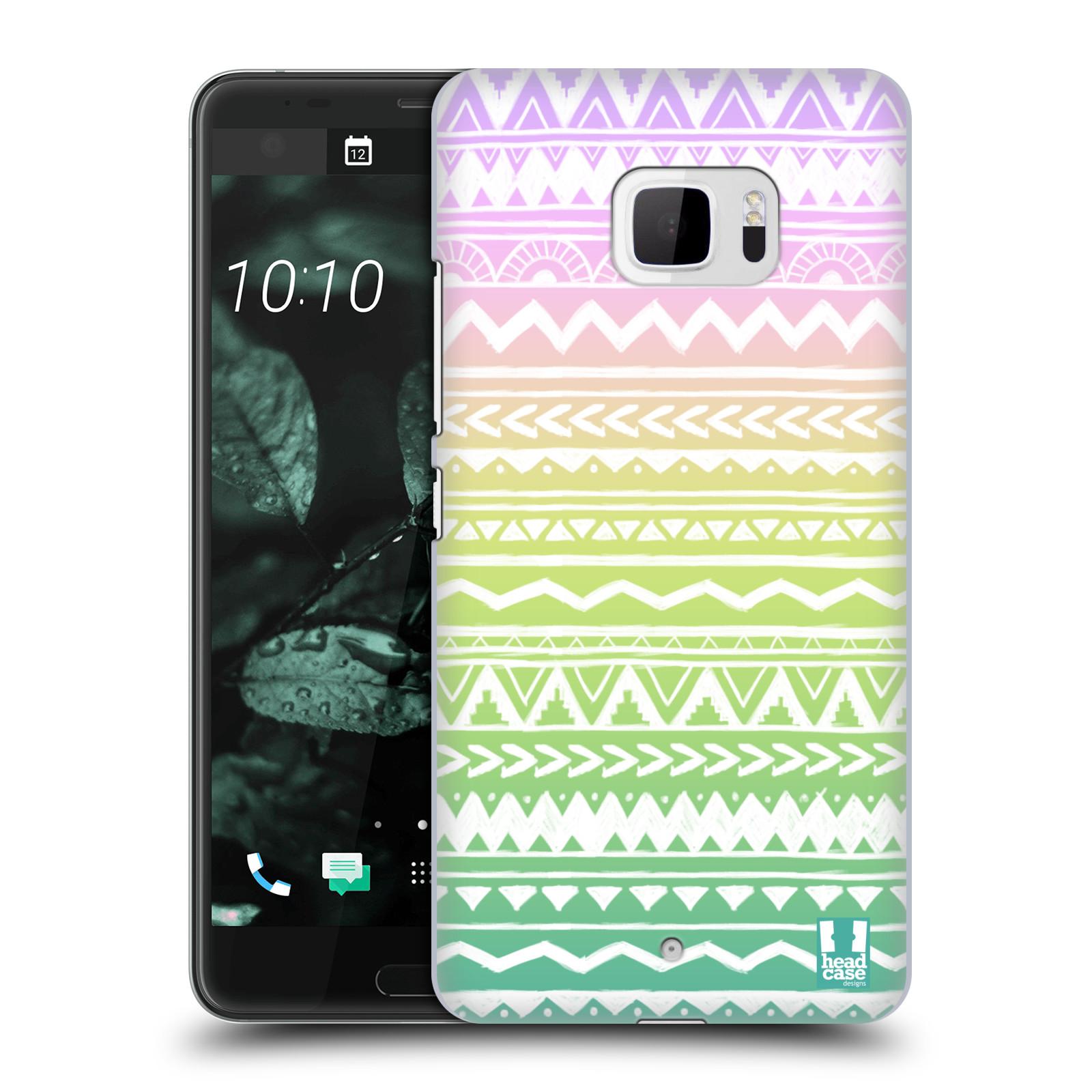 Plastové pouzdro na mobil HTC U Ultra Head Case - MIX AZTEC DRAWN (Plastový kryt či obal na mobilní telefon HTC U Ultra (99HALT015-00))