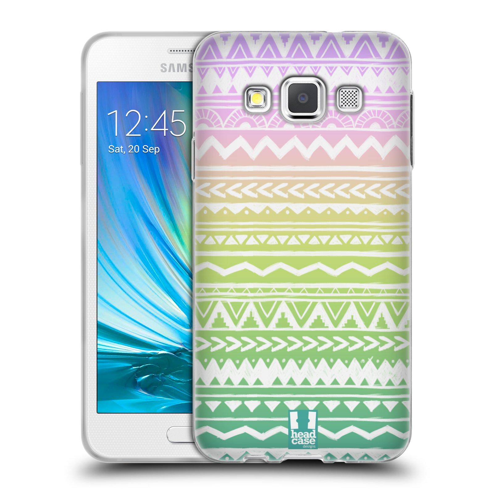 Silikonové pouzdro na mobil Samsung Galaxy A3 HEAD CASE MIX AZTEC DRAWN
