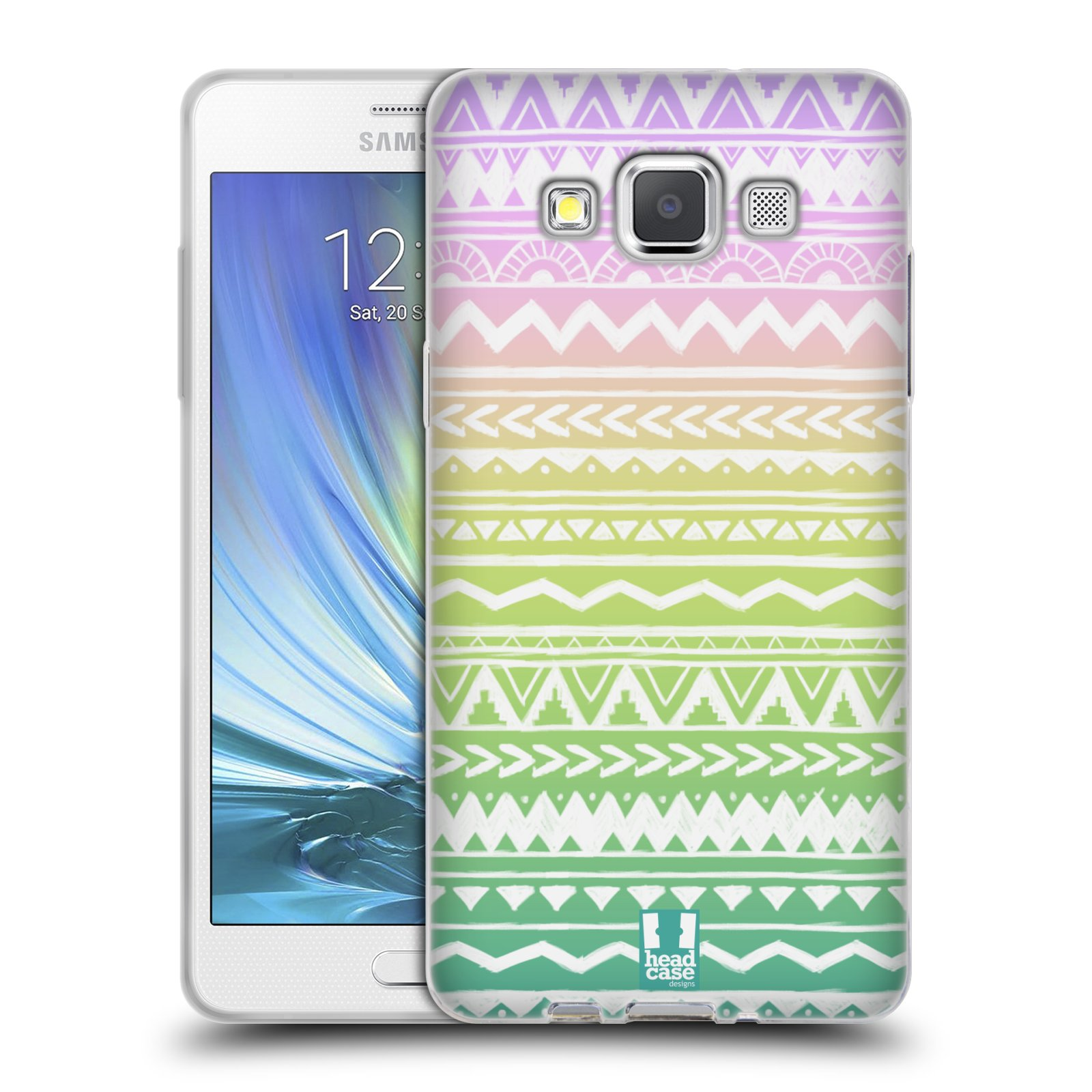 Silikonové pouzdro na mobil Samsung Galaxy A5 HEAD CASE MIX AZTEC DRAWN