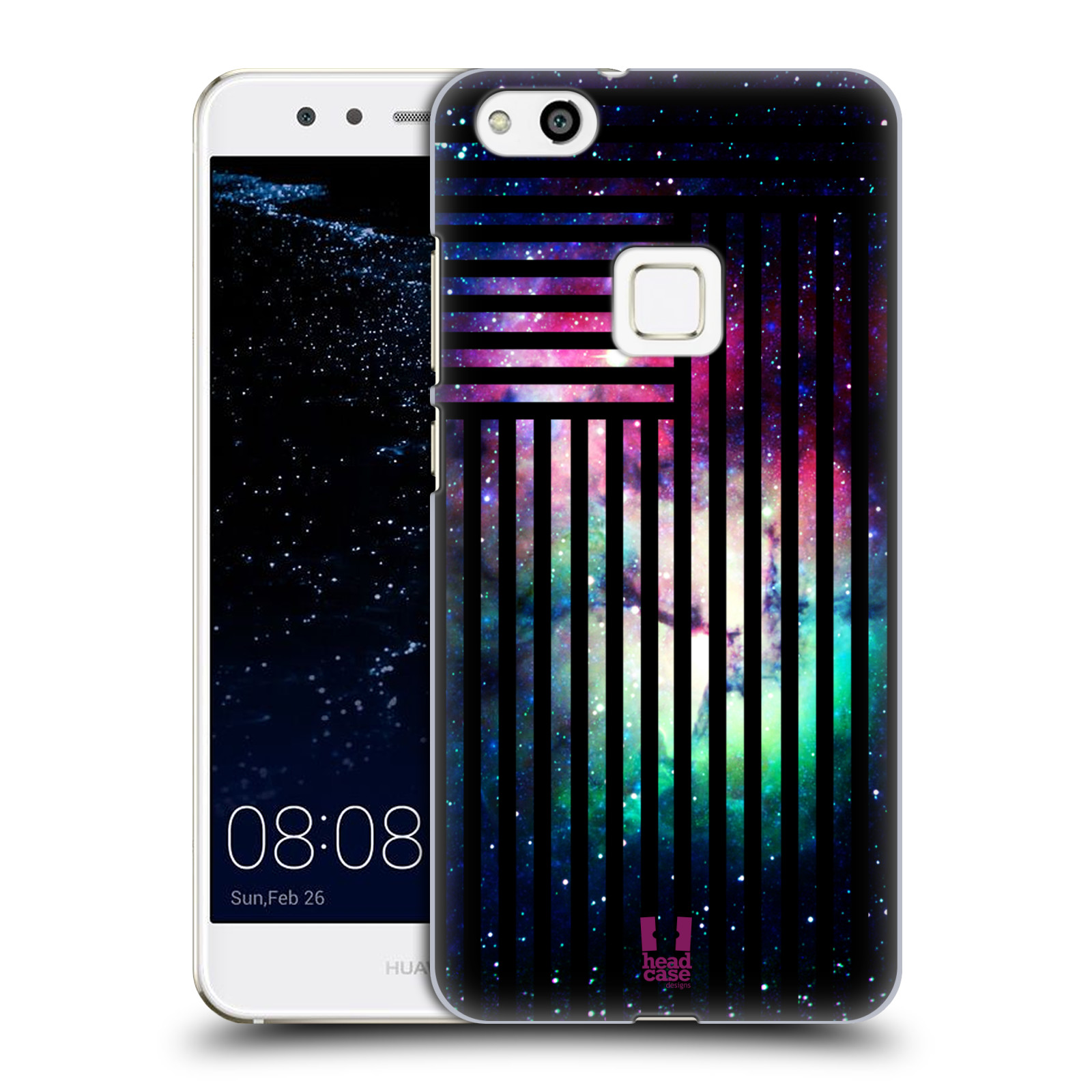 Plastové pouzdro na mobil Huawei P10 Lite Head Case - MIX NEBULA STRIPES (Plastový kryt či obal na mobilní telefon Huawei P10 Lite Dual SIM (LX1/LX1A))