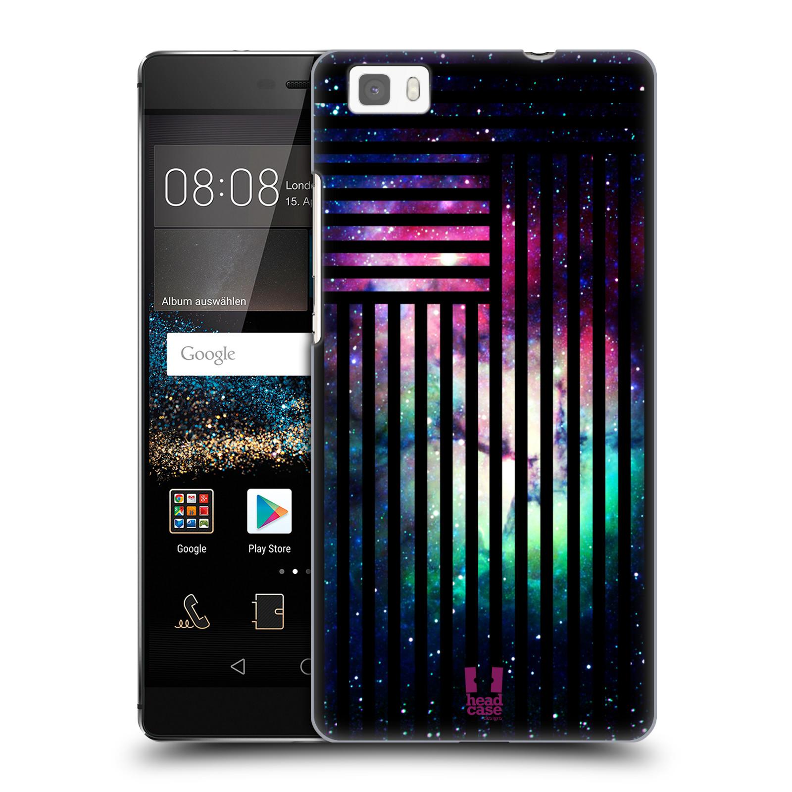 Plastové pouzdro na mobil Huawei P8 Lite HEAD CASE MIX NEBULA STRIPES