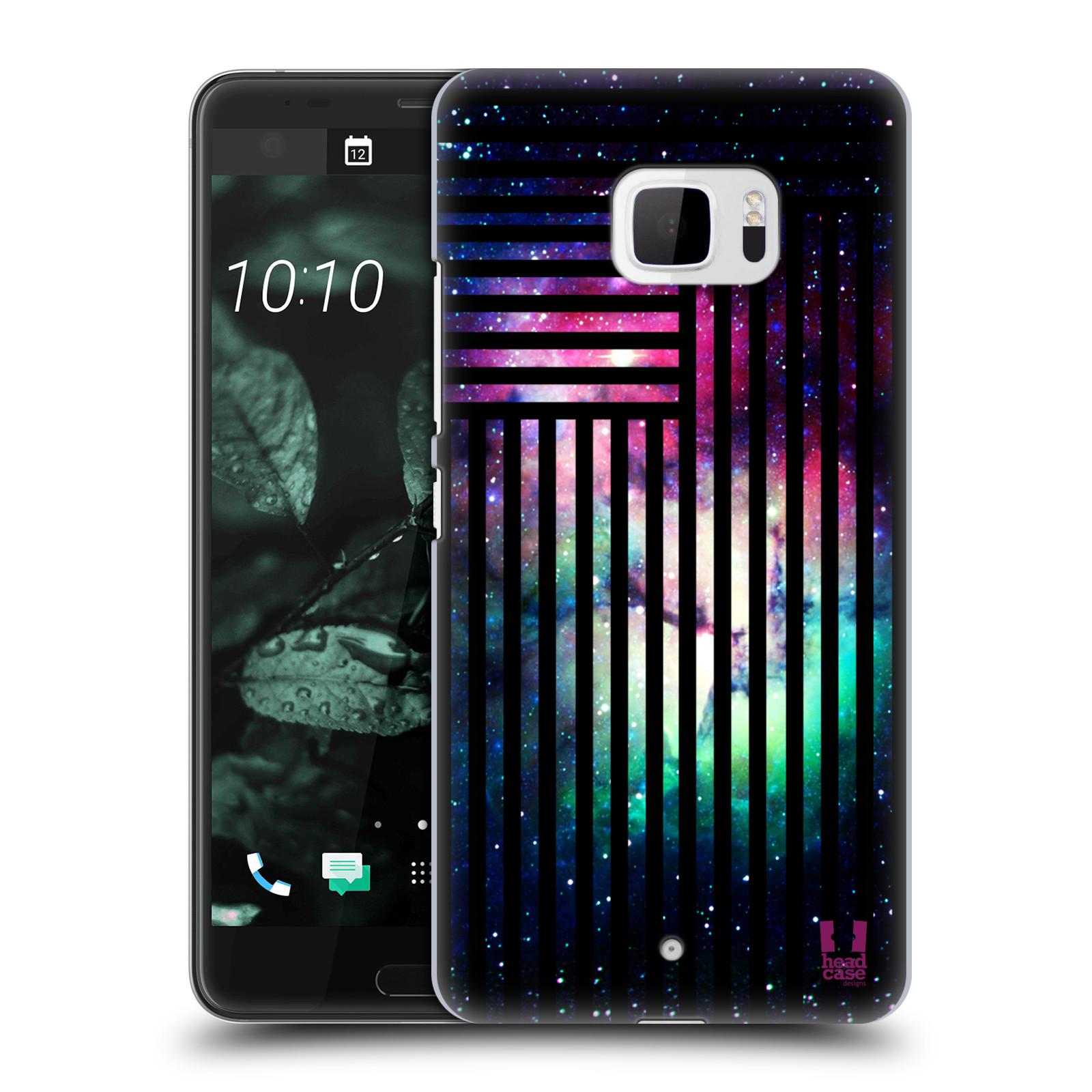 Plastové pouzdro na mobil HTC U Ultra Head Case - MIX NEBULA STRIPES (Plastový kryt či obal na mobilní telefon HTC U Ultra (99HALT015-00))