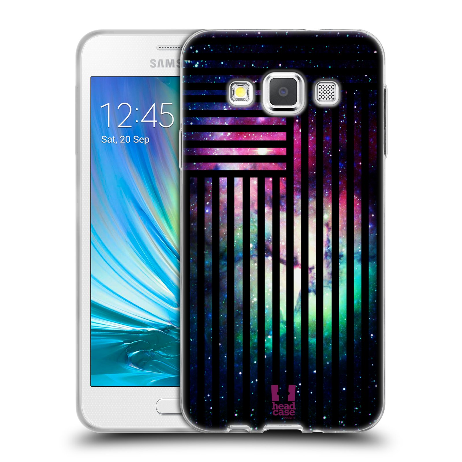 Silikonové pouzdro na mobil Samsung Galaxy A3 HEAD CASE MIX NEBULA STRIPES
