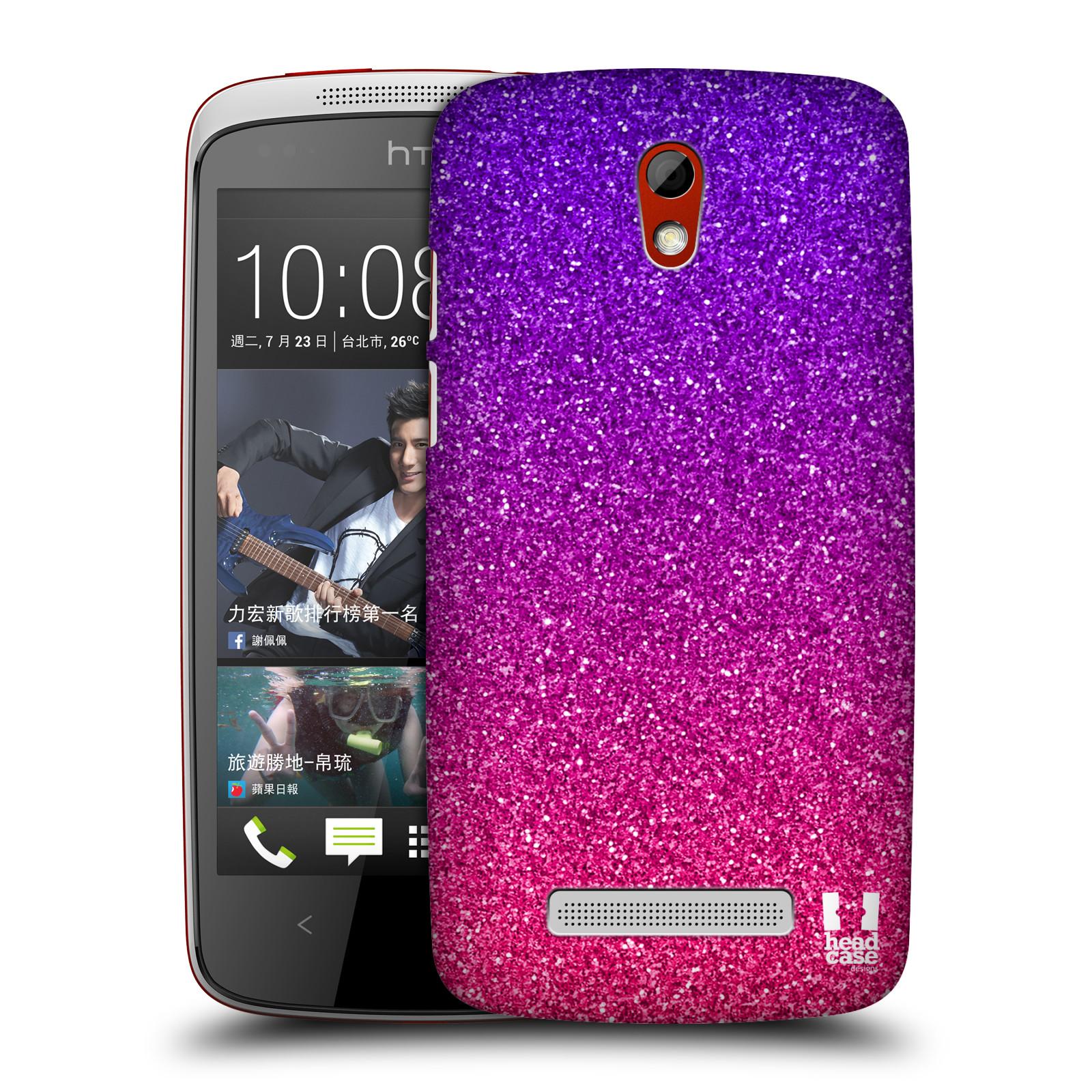 Plastové pouzdro na mobil HTC Desire 500 HEAD CASE MIX PINK (Kryt či obal na mobilní telefon HTC Desire 500)