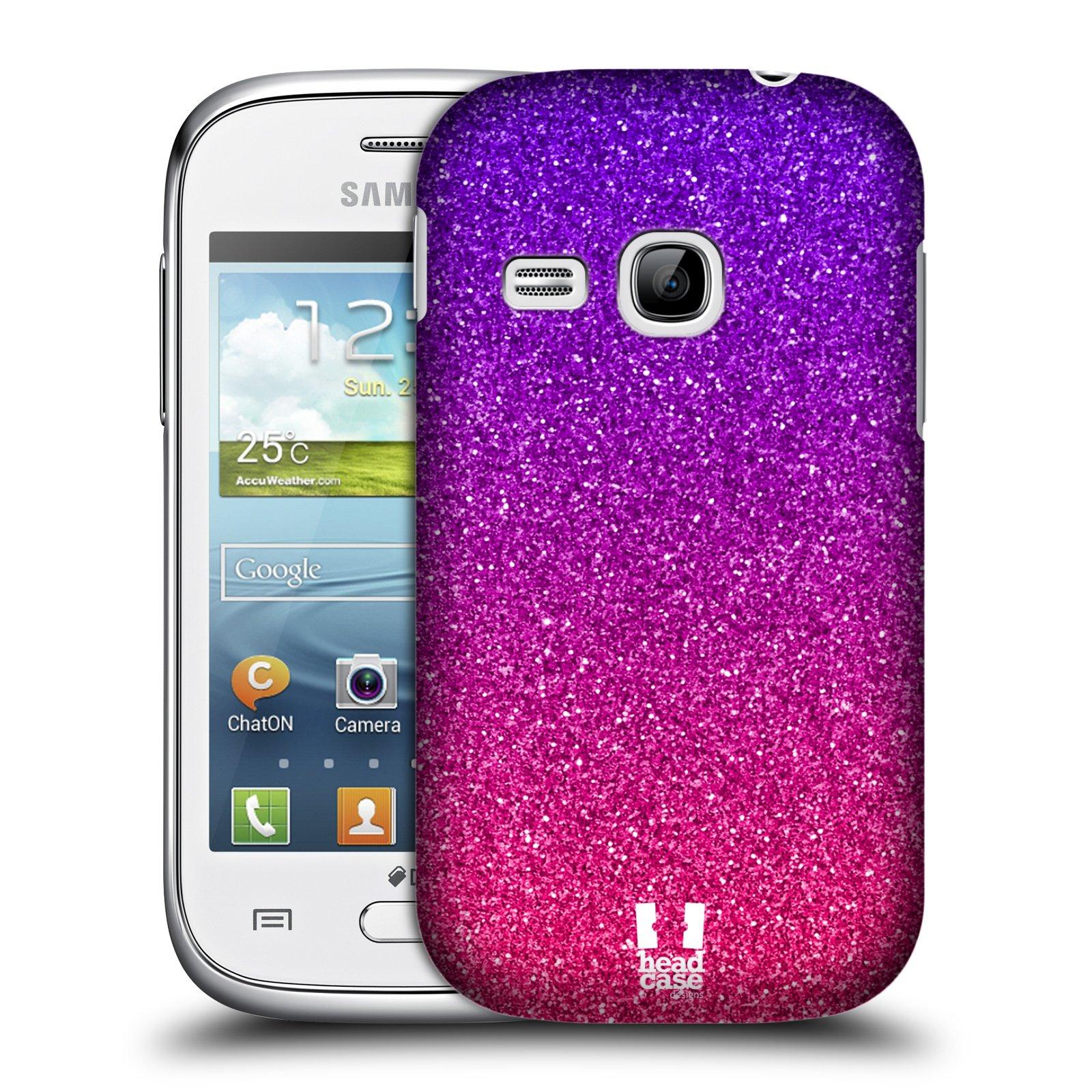 Plastové pouzdro na mobil Samsung Galaxy Young HEAD CASE MIX PINK