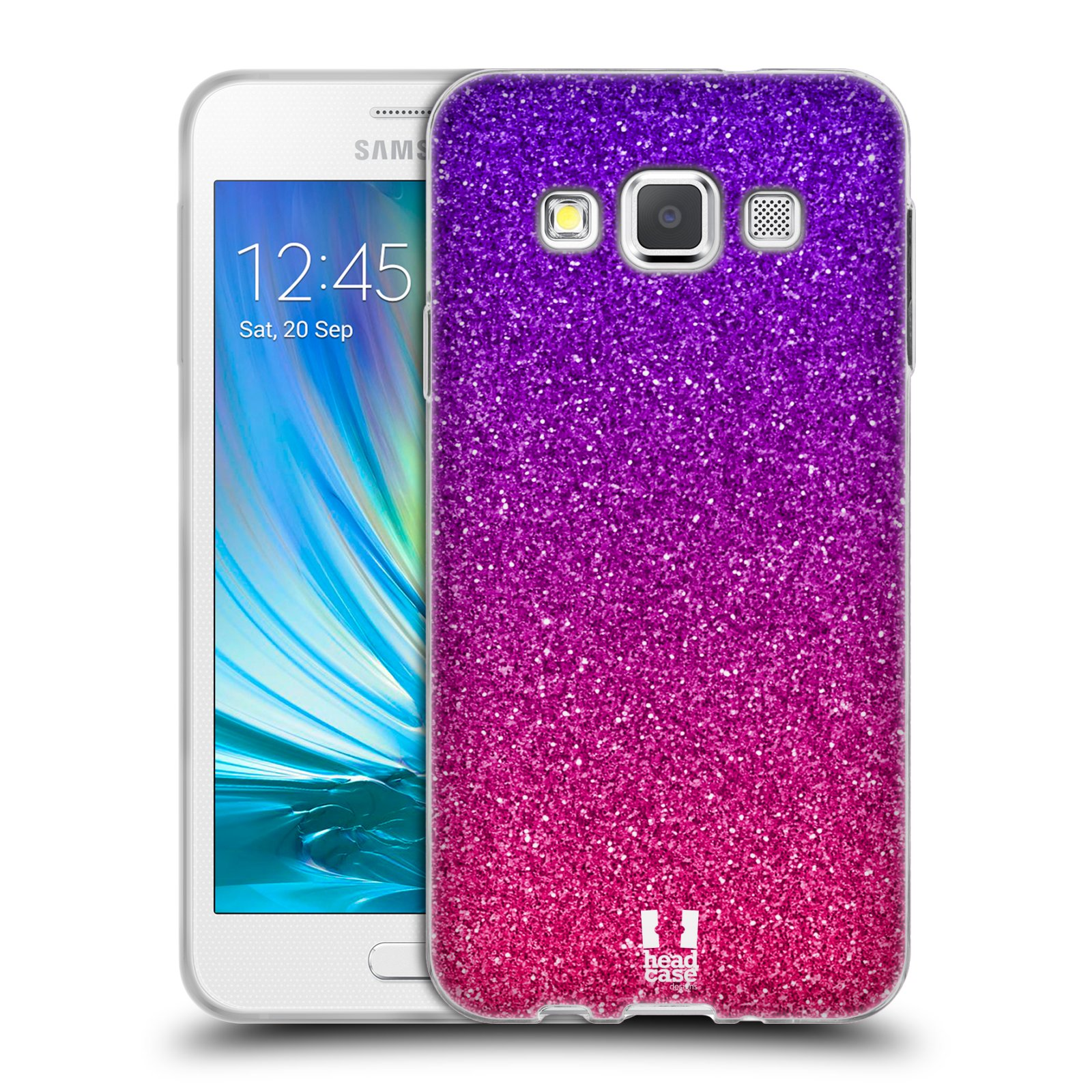 Silikonové pouzdro na mobil Samsung Galaxy A3 HEAD CASE MIX PINK
