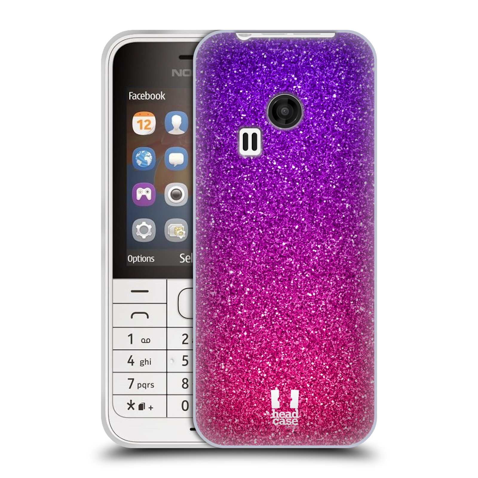 Silikonové pouzdro na mobil Nokia 220 HEAD CASE MIX PINK (Silikonový kryt či obal na mobilní telefon Nokia 220 a 220 Dual SIM)