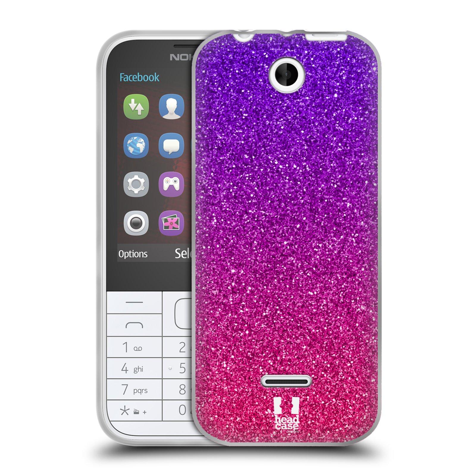 Silikonové pouzdro na mobil Nokia 225 HEAD CASE MIX PINK (Silikonový kryt či obal na mobilní telefon Nokia 225)