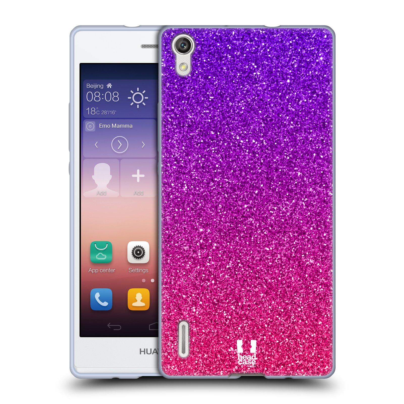 Silikonové pouzdro na mobil Huawei P7 HEAD CASE MIX PINK (Silikonový kryt či obal na mobilní telefon Huawei Ascend P7)