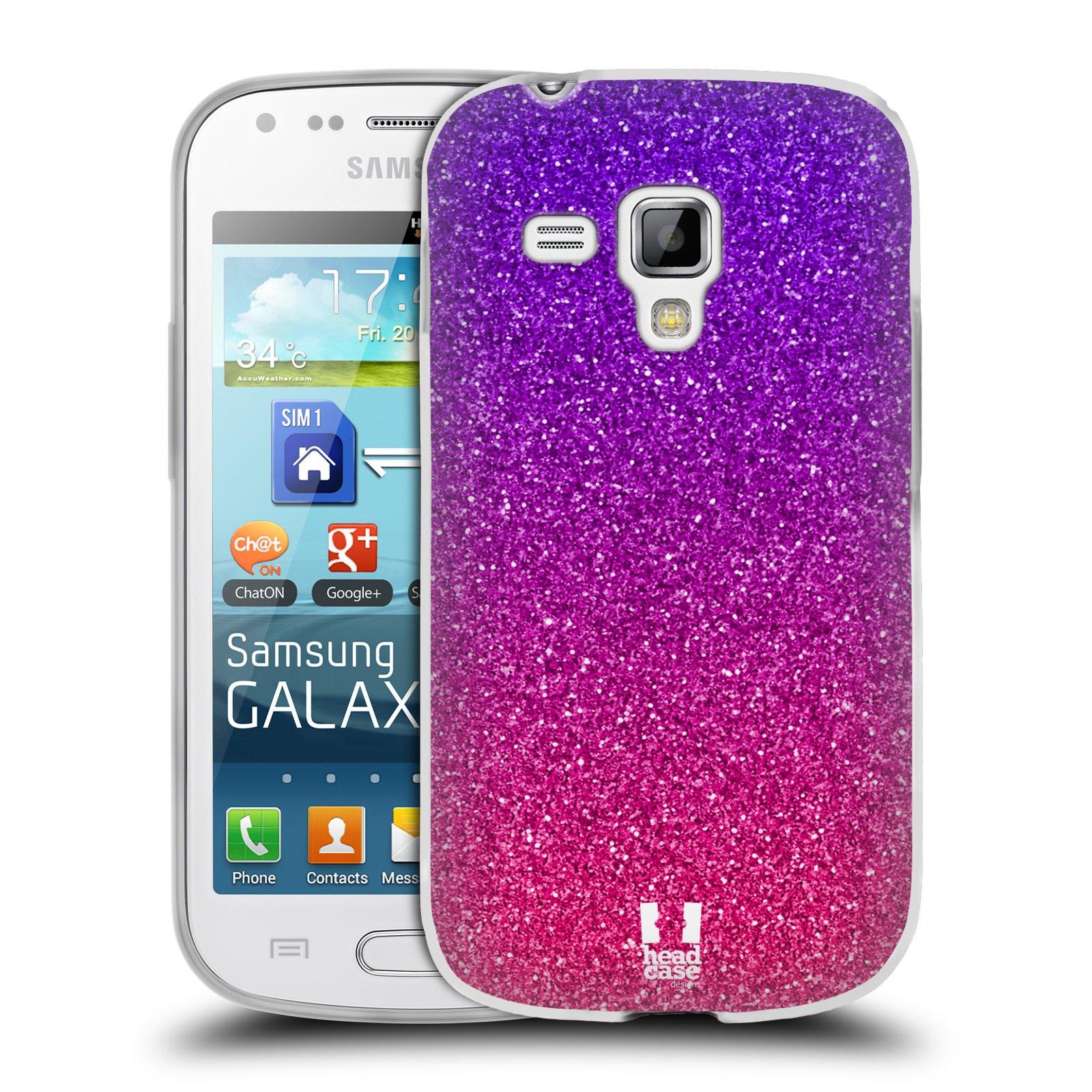 Silikonové pouzdro na mobil Samsung Galaxy Trend Plus HEAD CASE MIX PINK (Silikonový kryt či obal na mobilní telefon Samsung Galaxy Trend Plus GT-S7580)