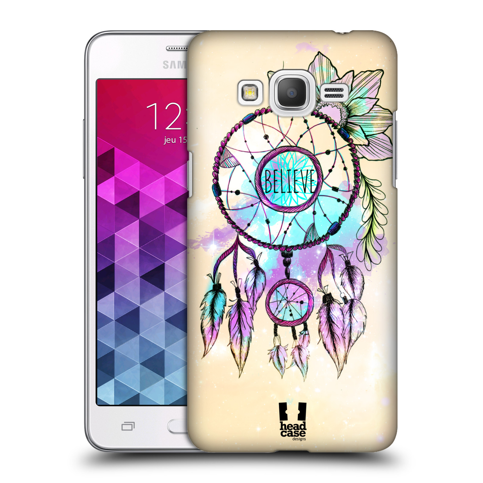 Plastové pouzdro na mobil Samsung Galaxy Grand Prime HEAD CASE MIX BELIEVE