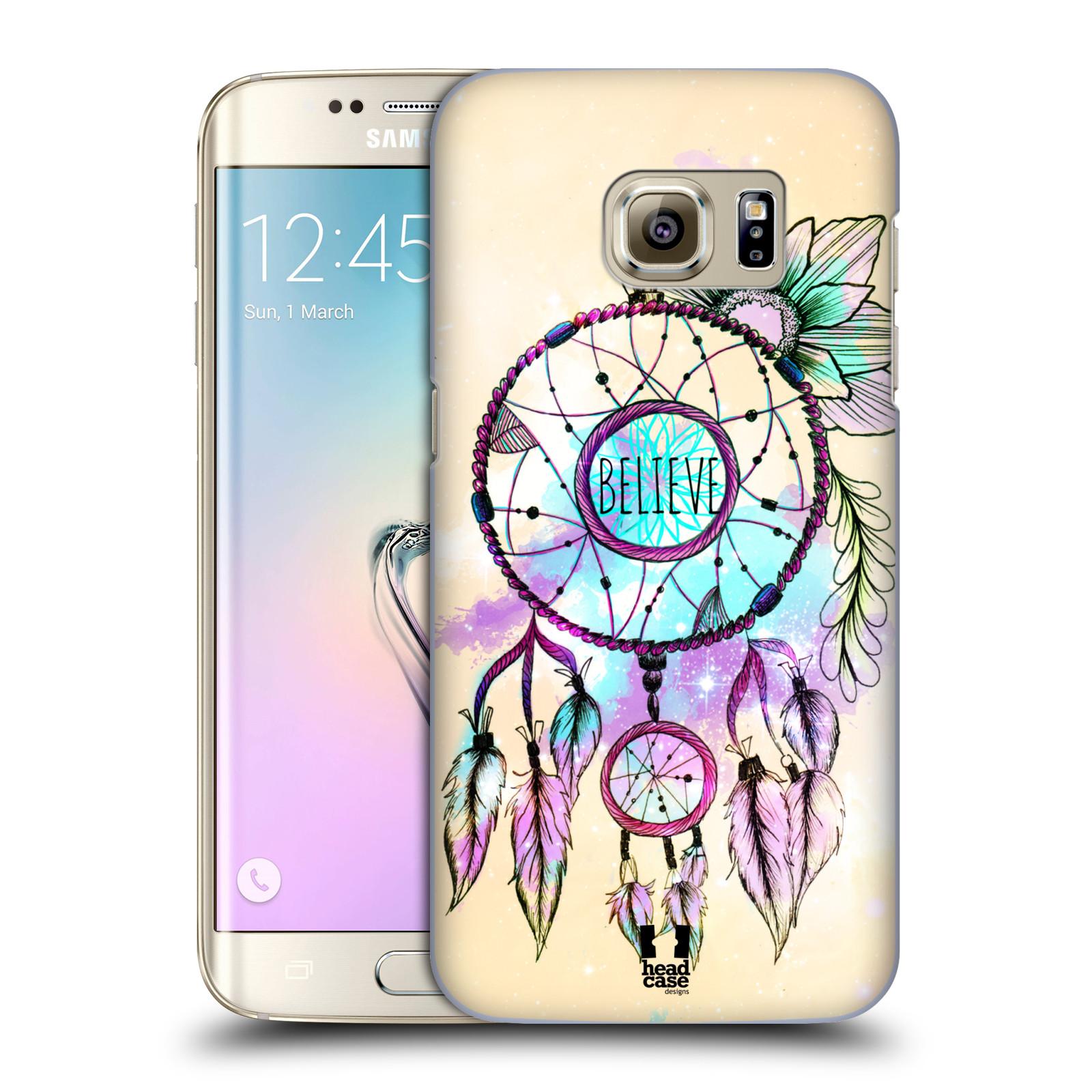 Plastové pouzdro na mobil Samsung Galaxy S7 Edge HEAD CASE MIX BELIEVE
