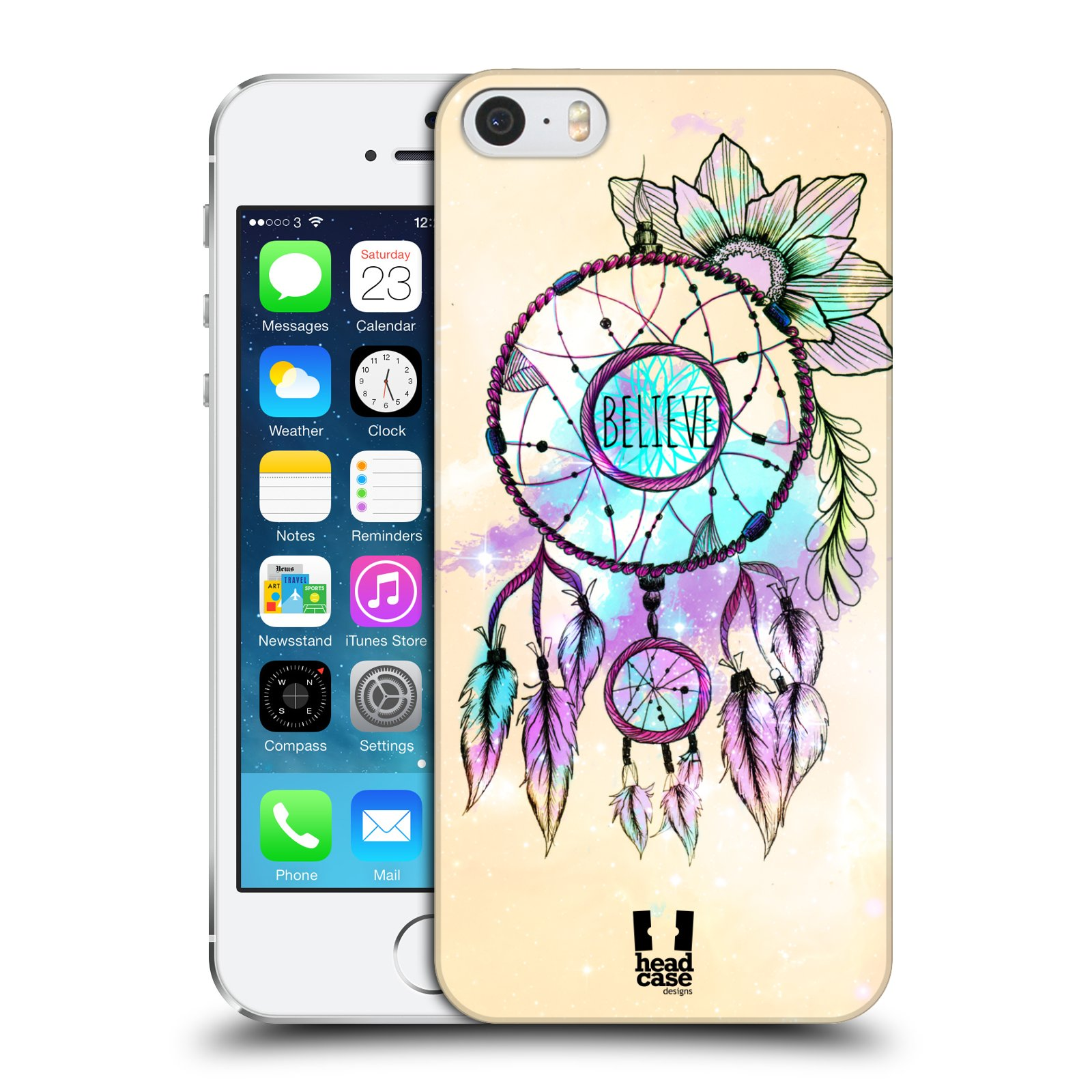 Plastové pouzdro na mobil Apple iPhone SE, 5 a 5S HEAD CASE MIX BELIEVE