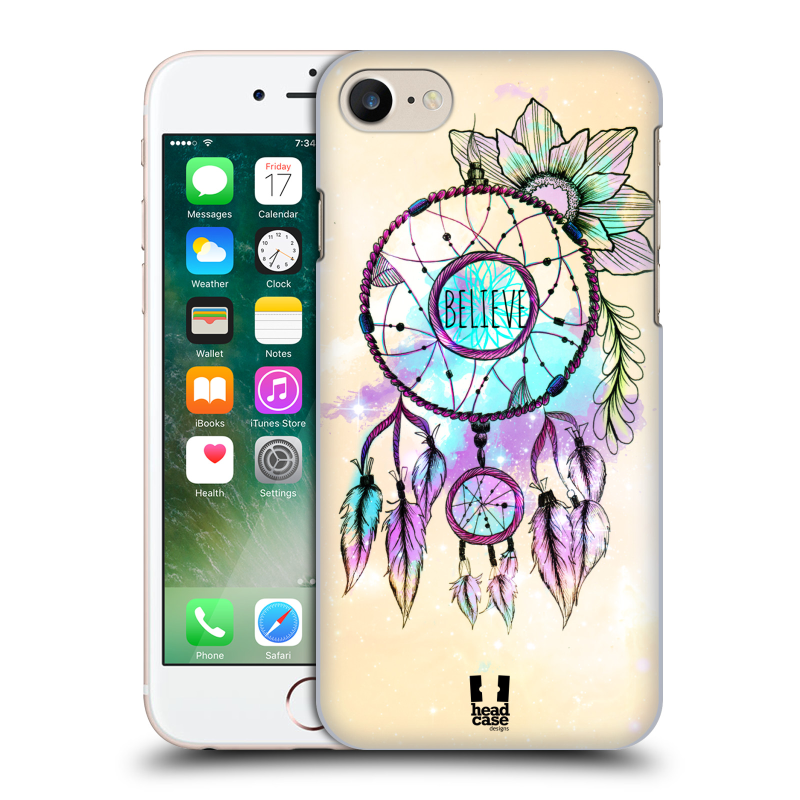 Plastové pouzdro na mobil Apple iPhone 7 HEAD CASE MIX BELIEVE