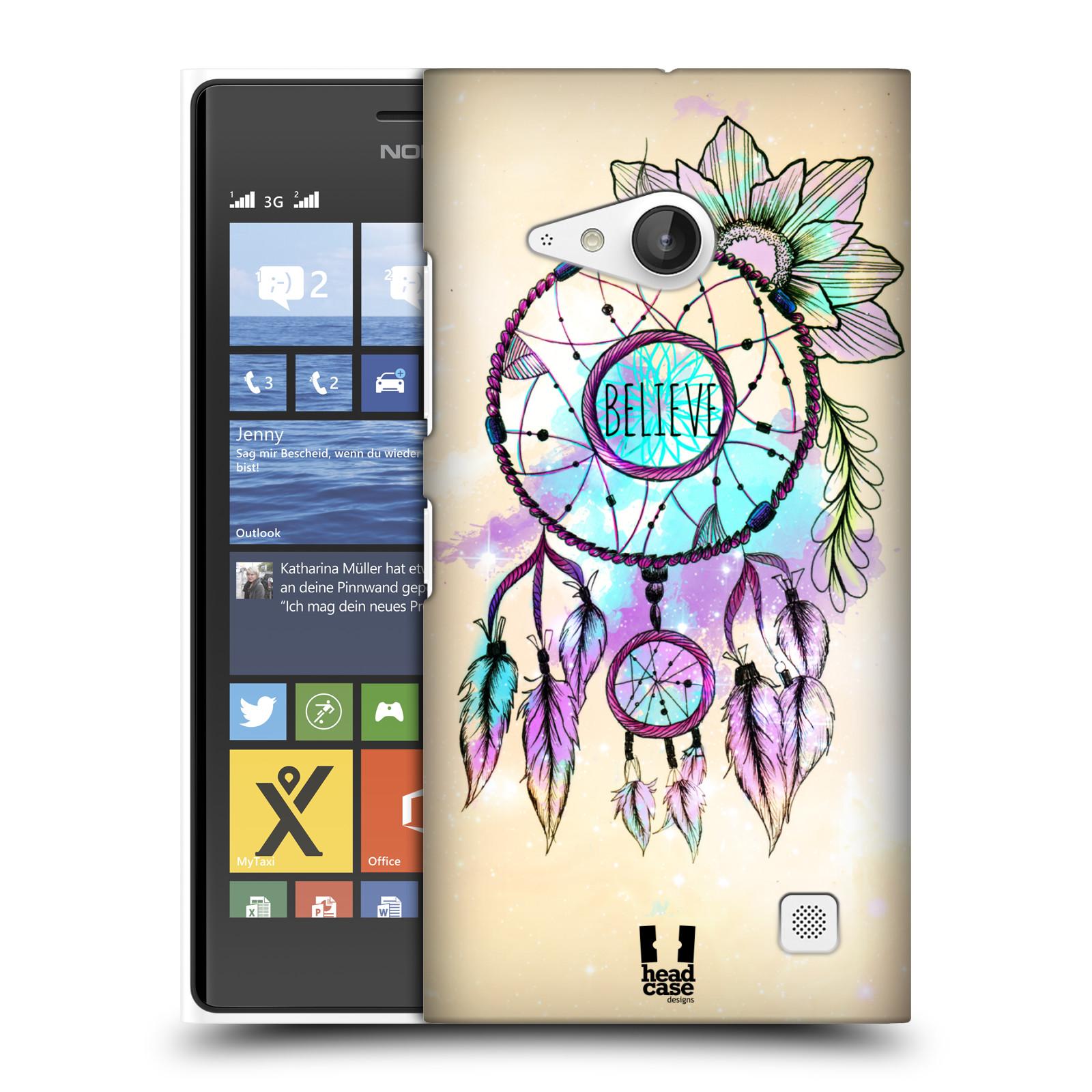 Plastové pouzdro na mobil Nokia Lumia 735 HEAD CASE MIX BELIEVE