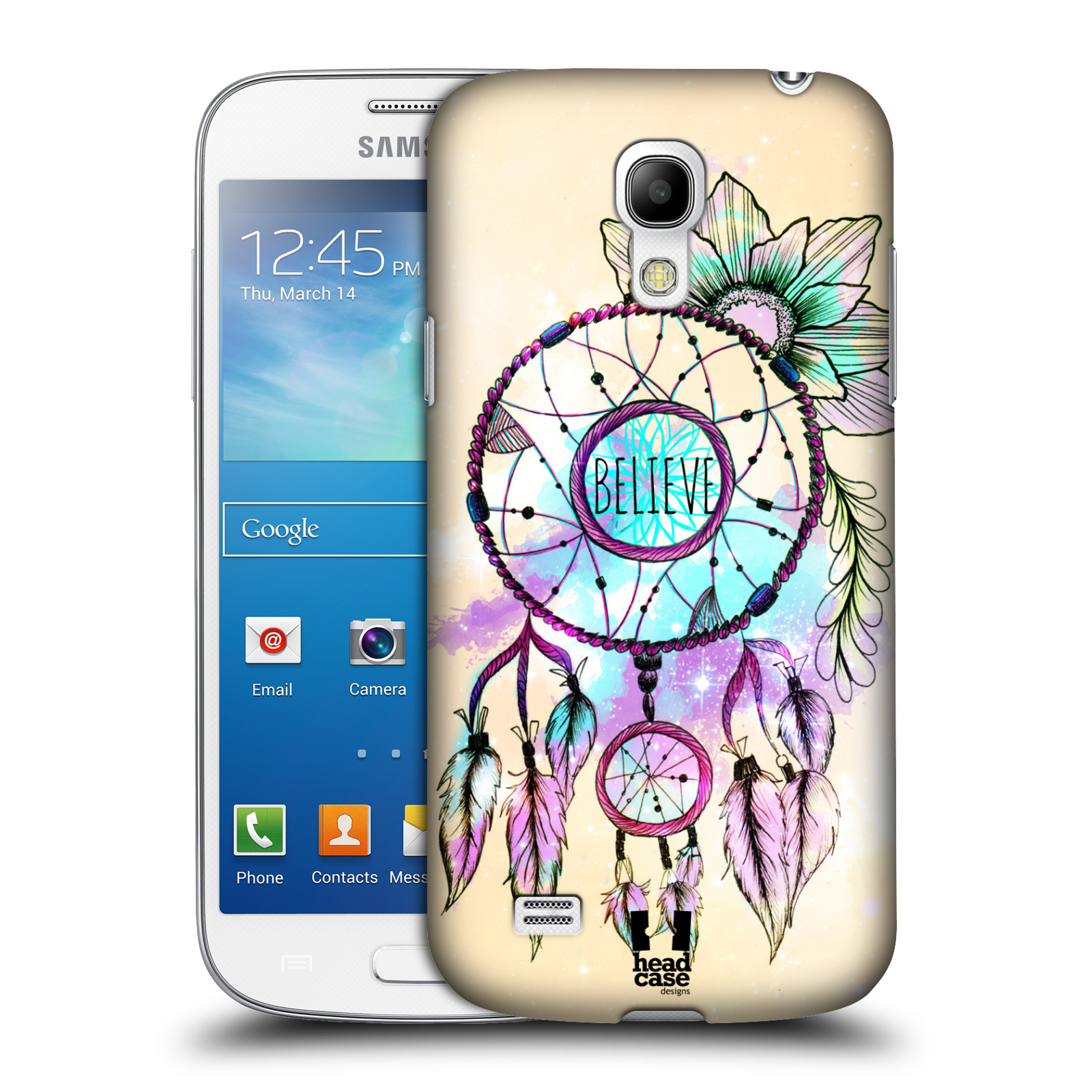 Plastové pouzdro na mobil Samsung Galaxy S4 Mini VE HEAD CASE MIX BELIEVE
