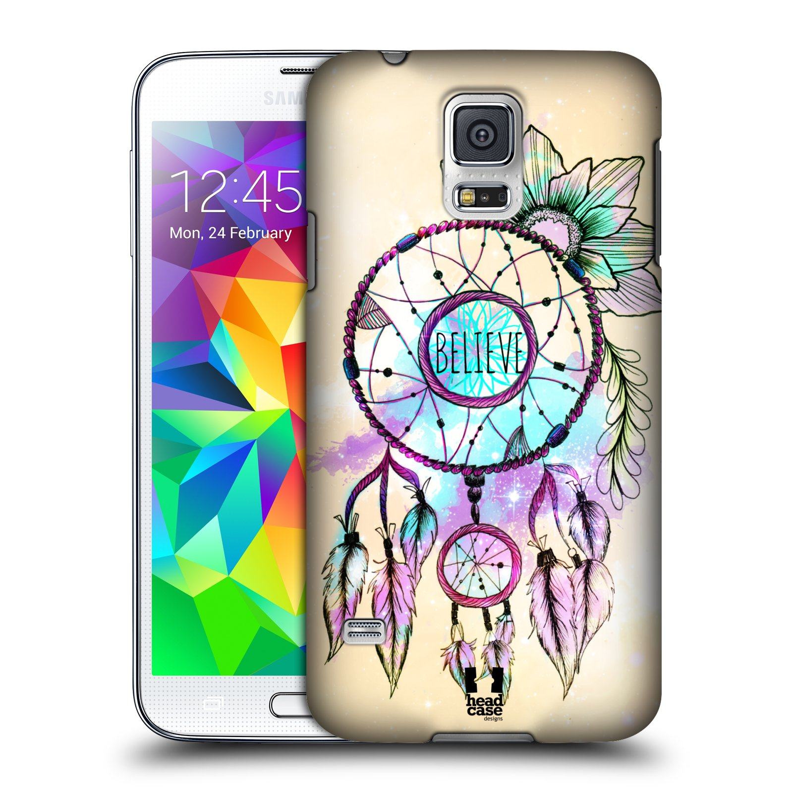 Plastové pouzdro na mobil Samsung Galaxy S5 HEAD CASE MIX BELIEVE