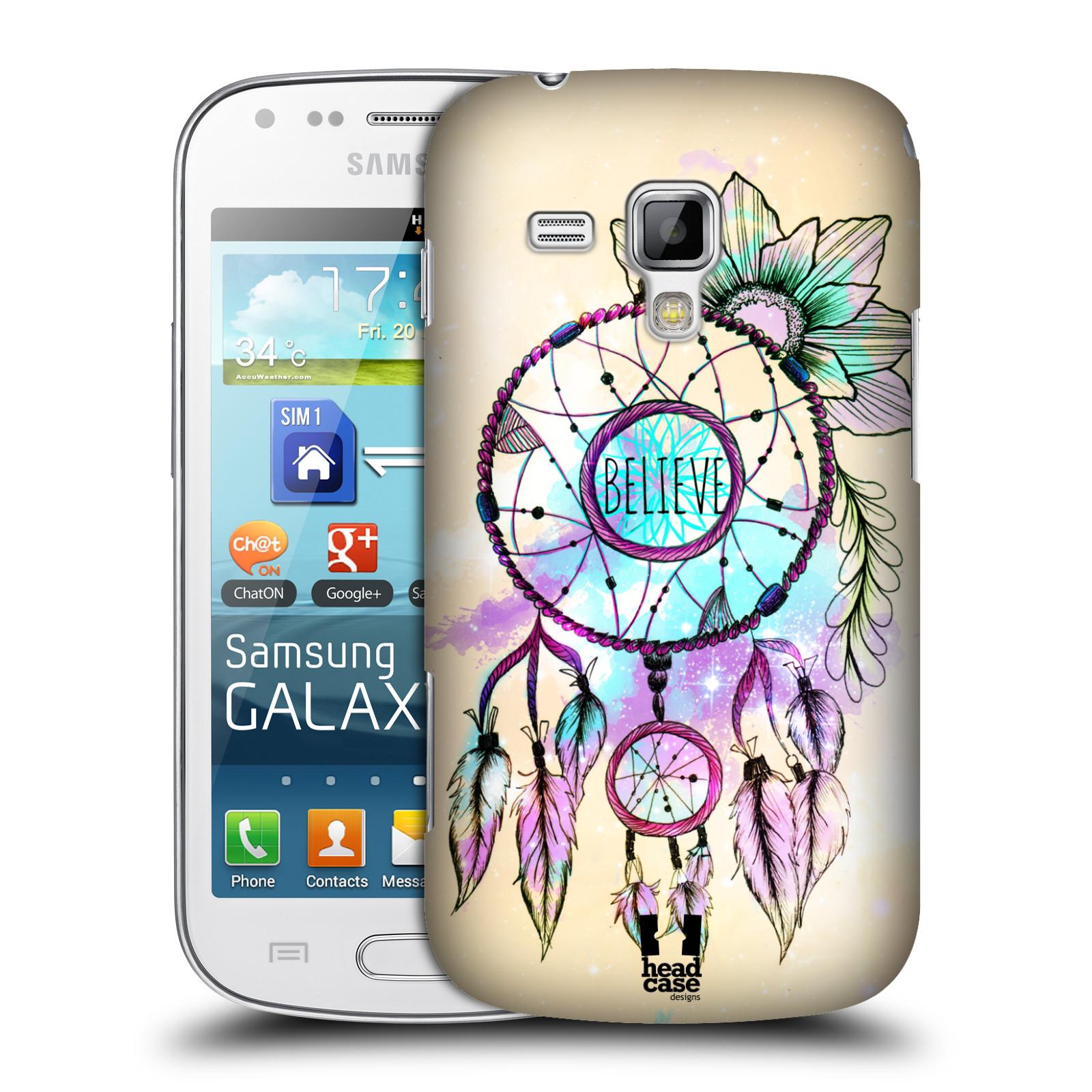 Plastové pouzdro na mobil Samsung Galaxy Trend Plus HEAD CASE MIX BELIEVE
