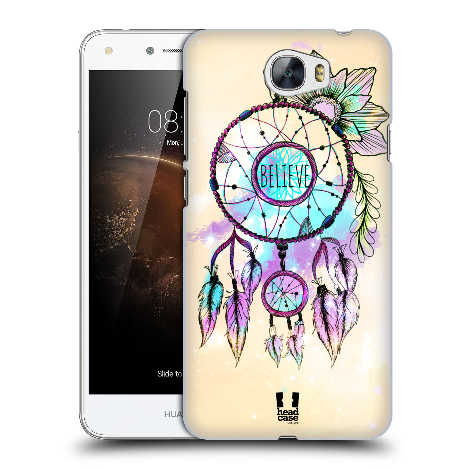 Plastové pouzdro na mobil Huawei Y6 II Compact HEAD CASE MIX BELIEVE