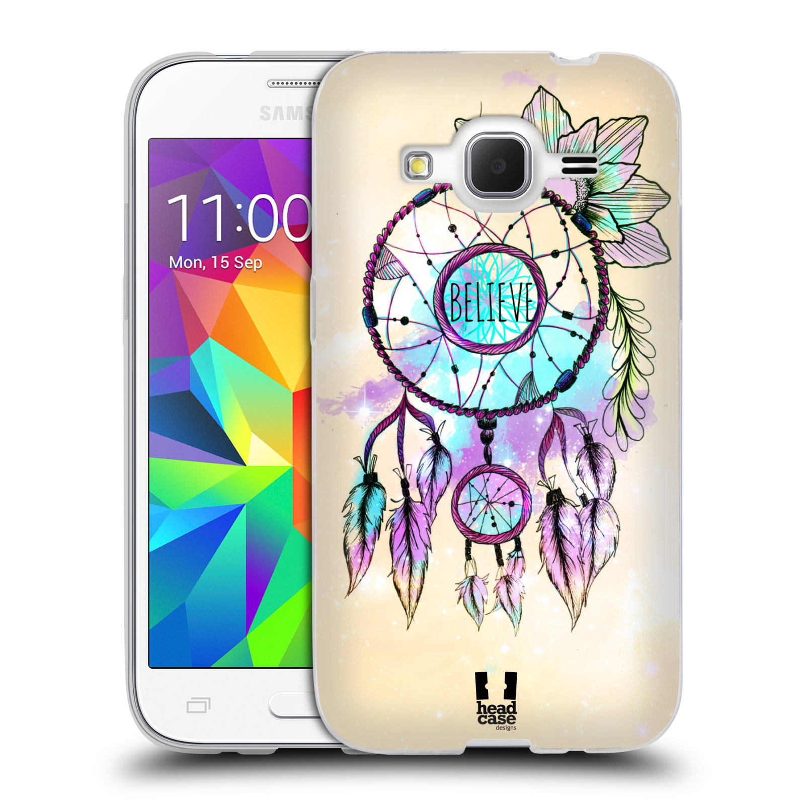 Silikonové pouzdro na mobil Samsung Galaxy Core Prime VE HEAD CASE MIX BELIEVE